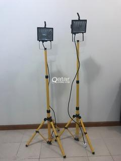 Spotlights with adjustable stands