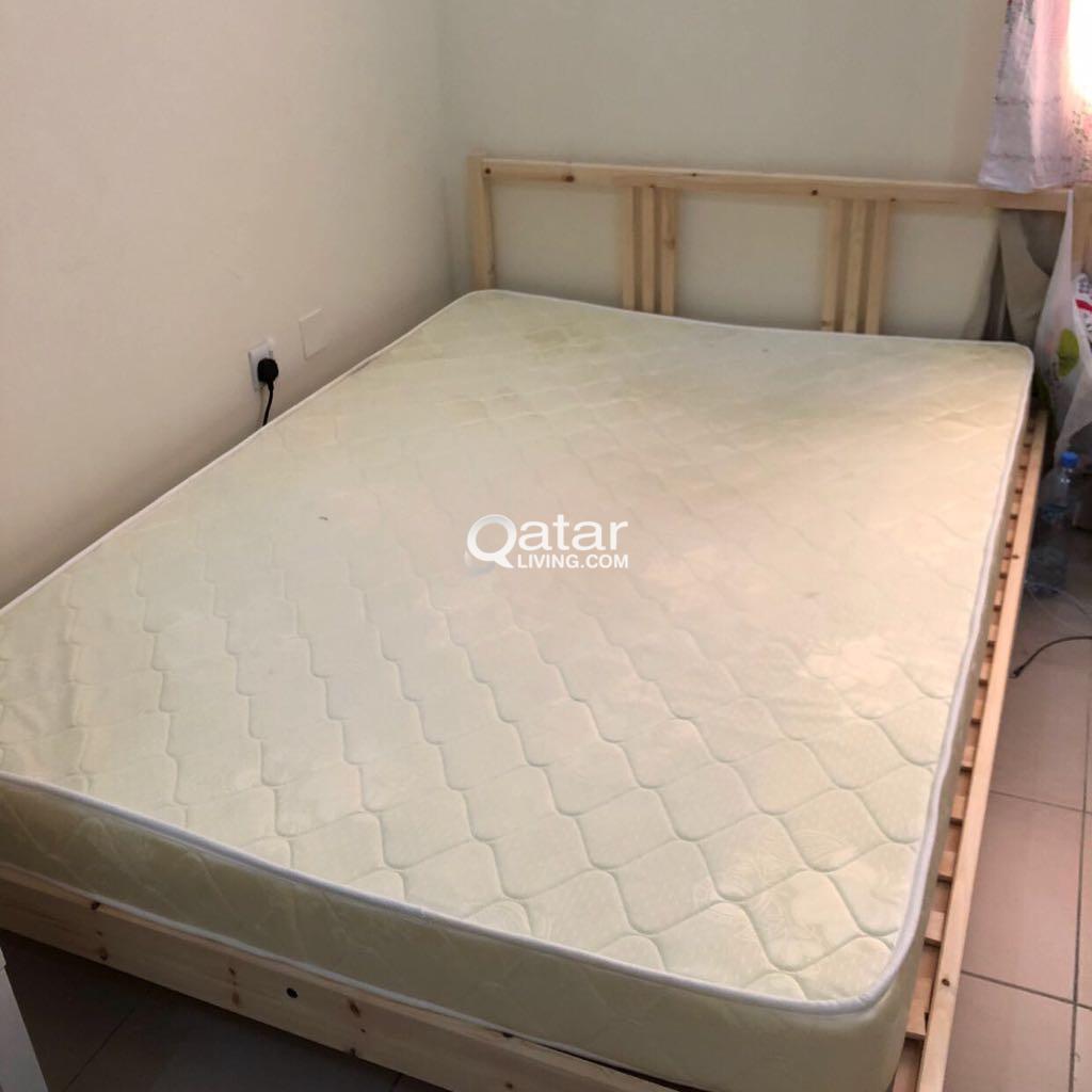 Ikea bed+mattress سرير ايكيا ومرتبه
