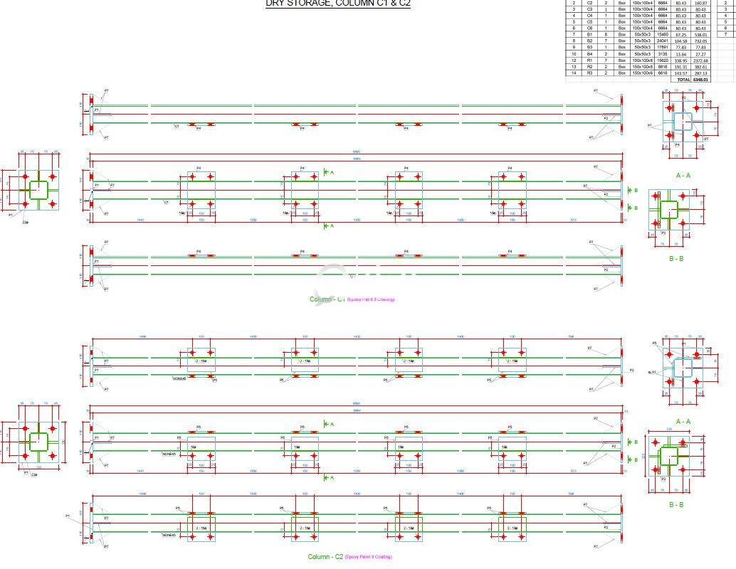 Structural Calculation Report, Fabrication Drawing   Qatar