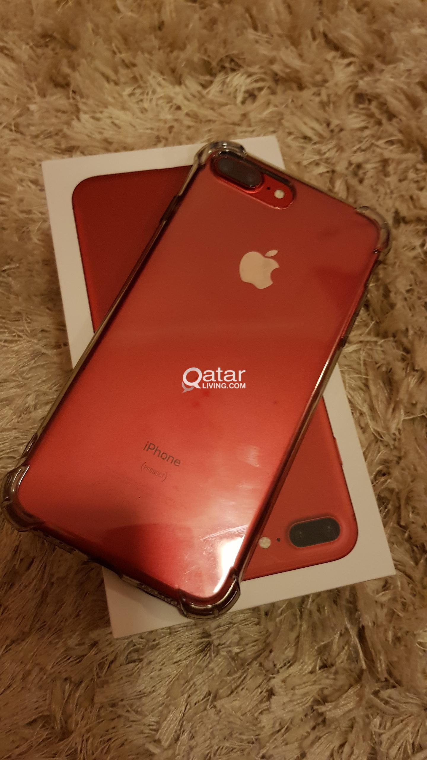 Iphone 7 plus 128GB Red | Qatar Living