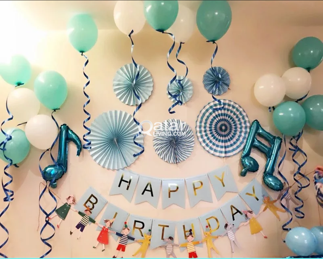 Happy Birthday Party Foil Balloon Letters And Other Paper Fans