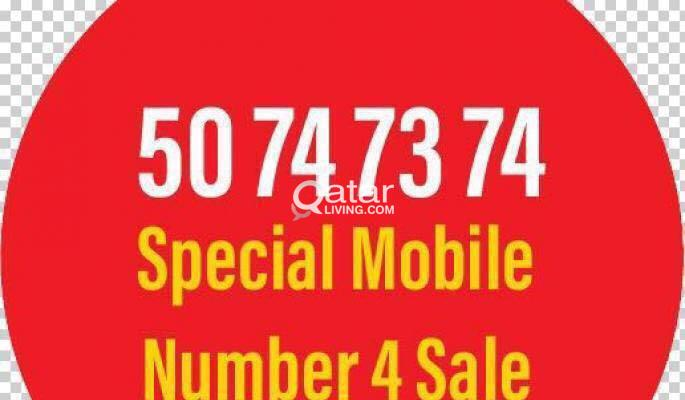 Special Number 50 74 73 74