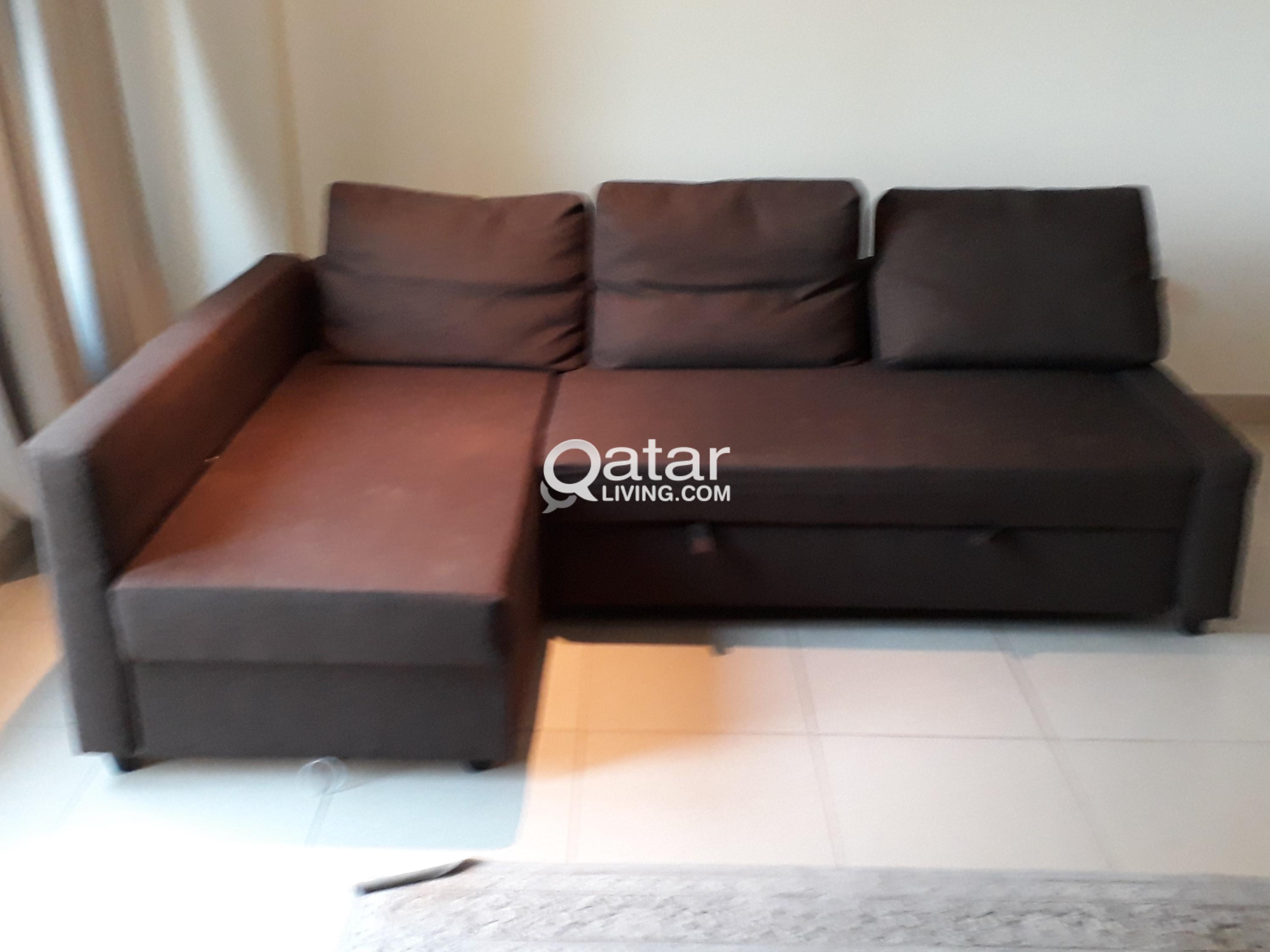 For Ikea Brown L Shaped Sofa