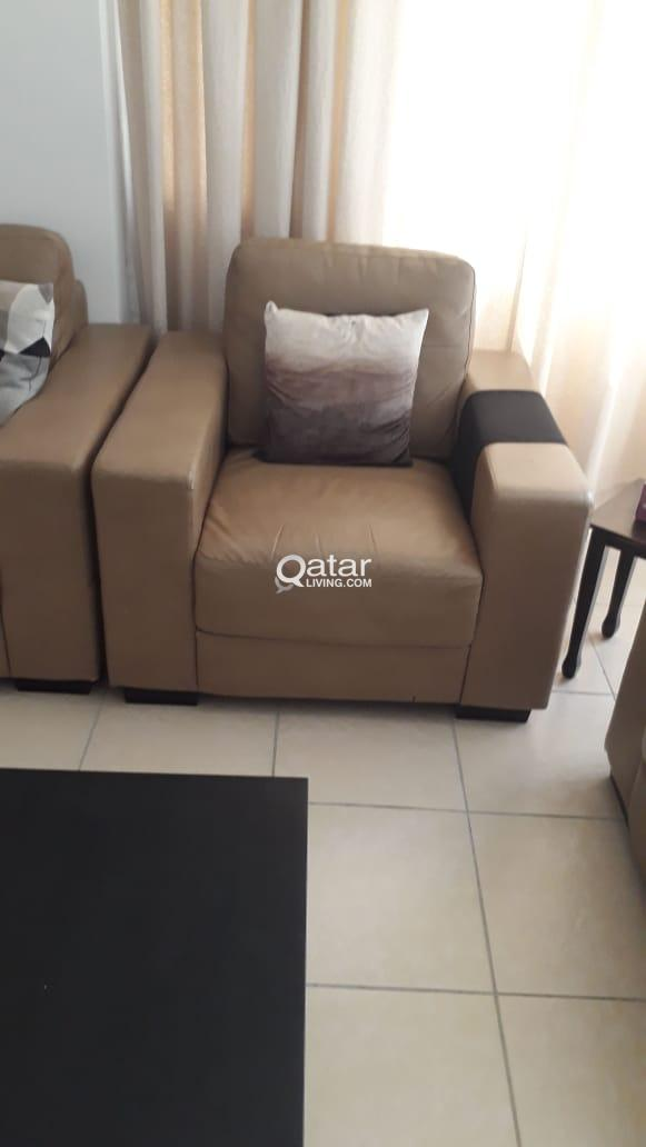 Leather Sofa Set Home Centre Qatar Living