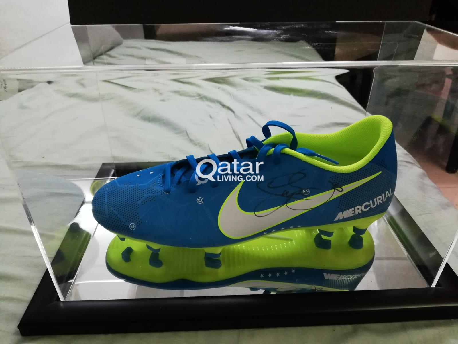 16010662313a0 title  title  title  title  title  title  title  title. Information. Neymar  Signed Blue Nike Boot ...