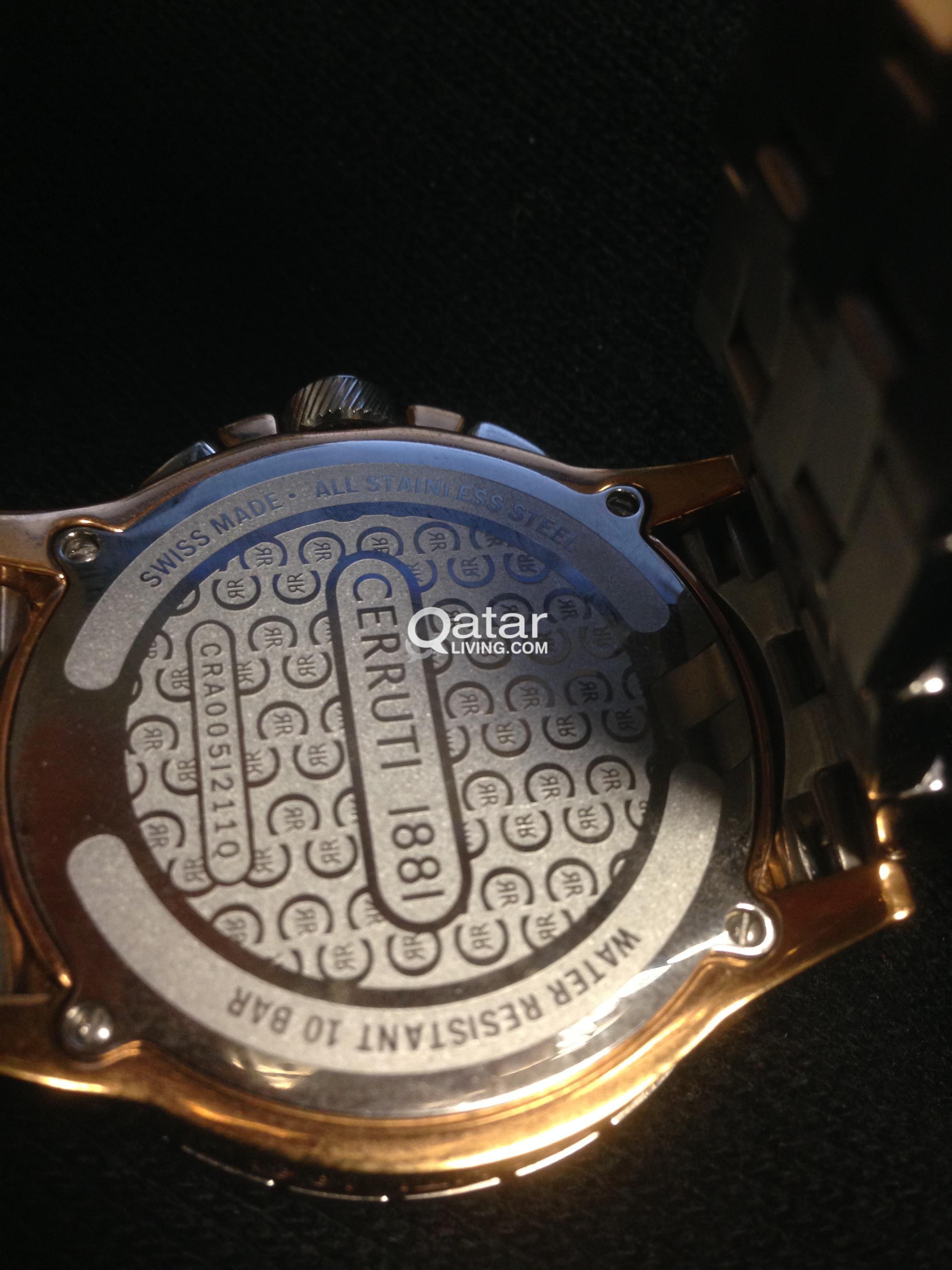 0ac48dab58 CERRUTI 1881 Diamond Watch for sale (Swiss made). | Qatar Living