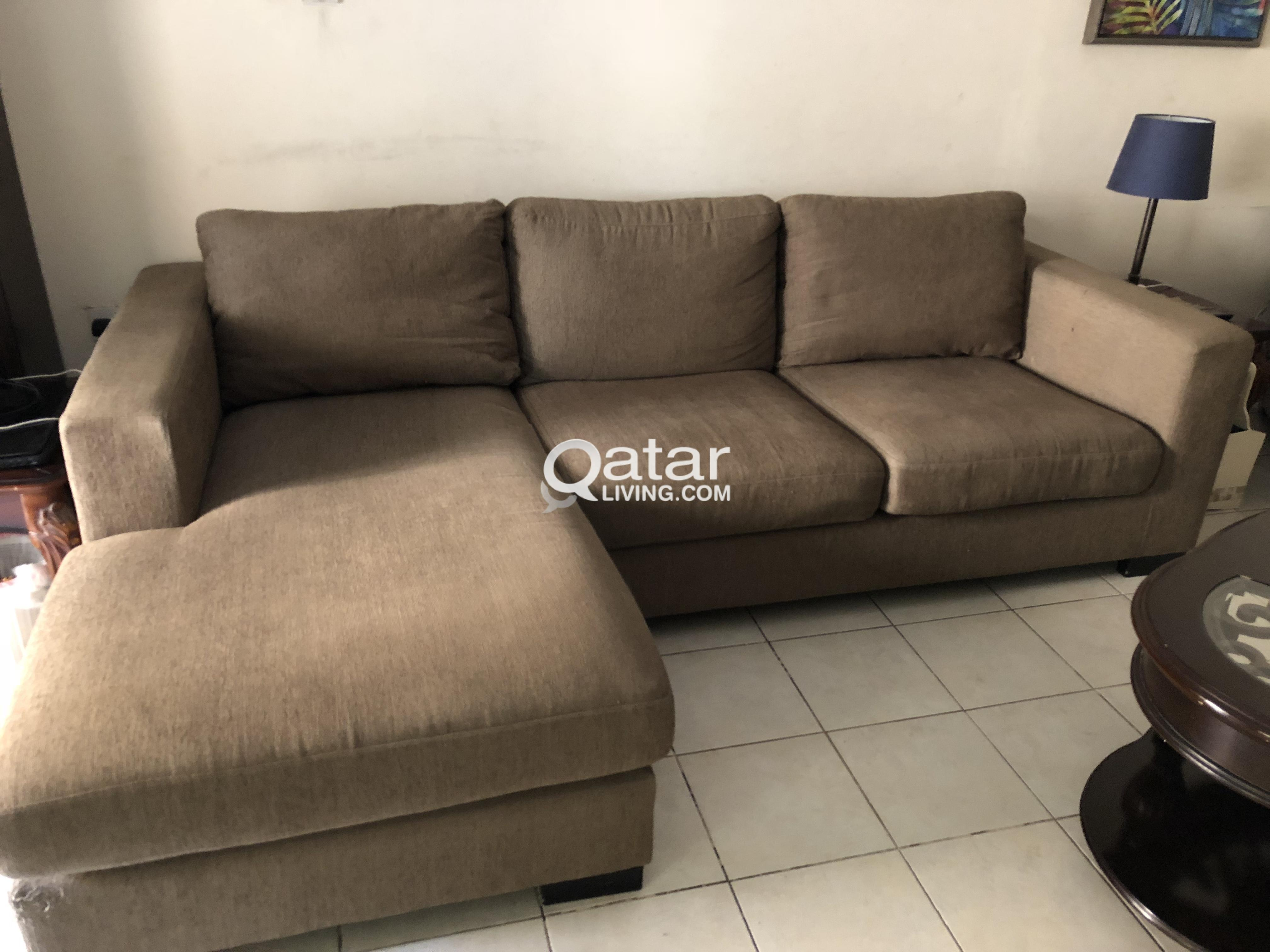 L Shape Sofa From Home Center In Very Good Condition For Immediate