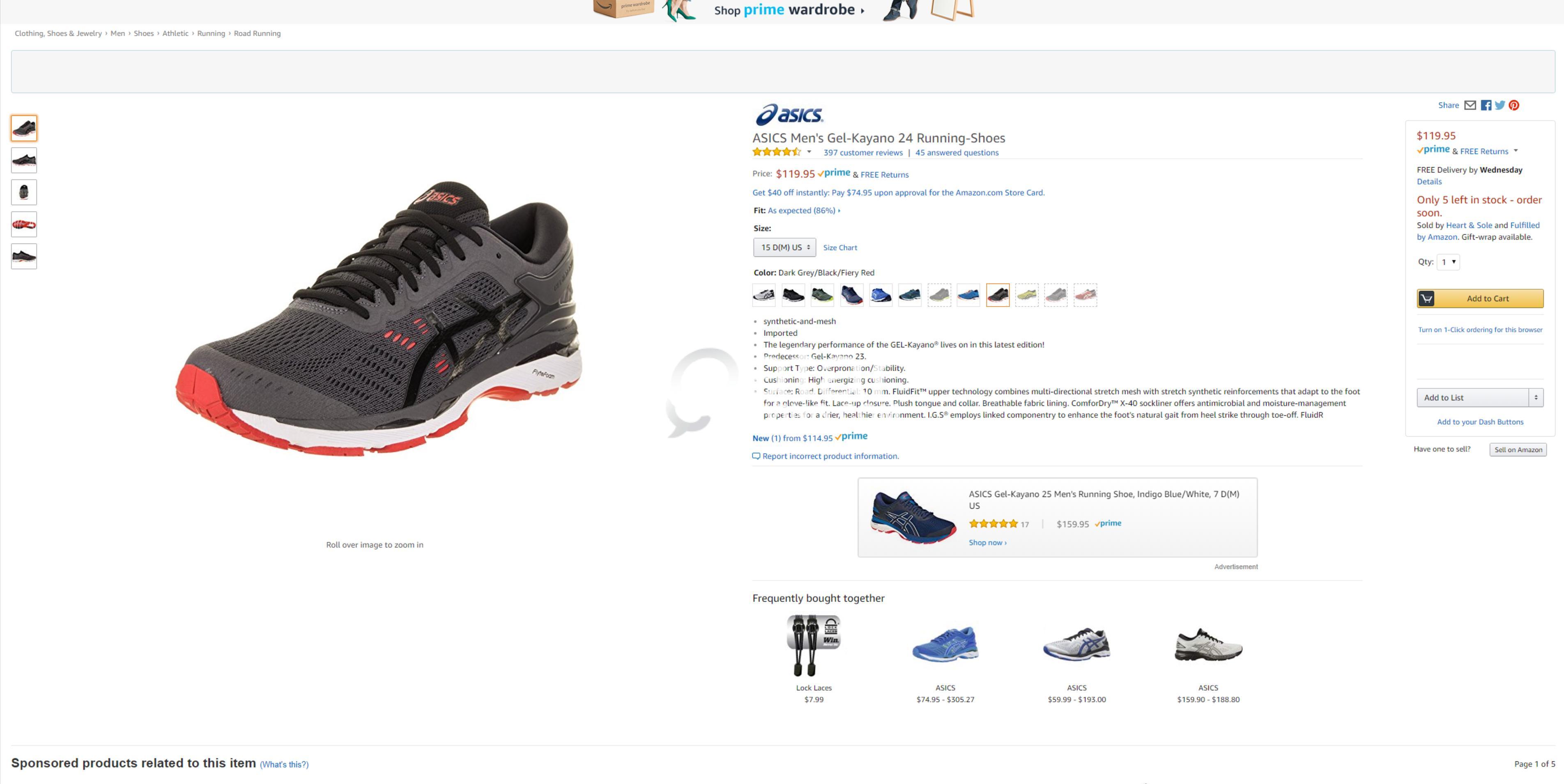 c5bfb3846c5e1 SNEAKERS ASICS Men's Gel-Kayano 24 Running-Shoes | Qatar Living