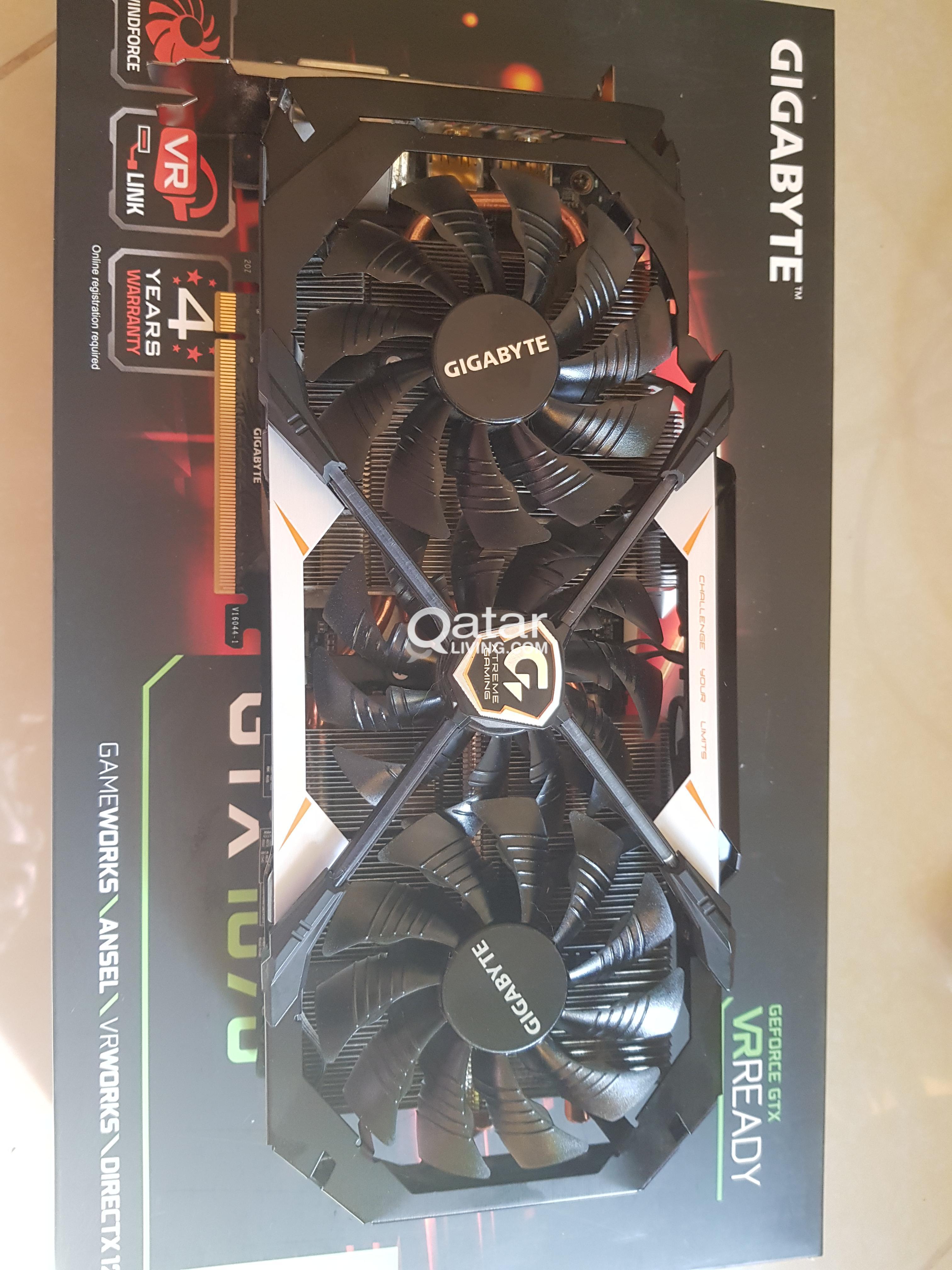 Gigabyte GeForce GTX 1070 Xtreme Gaming 8G Graphics Card | Qatar Living