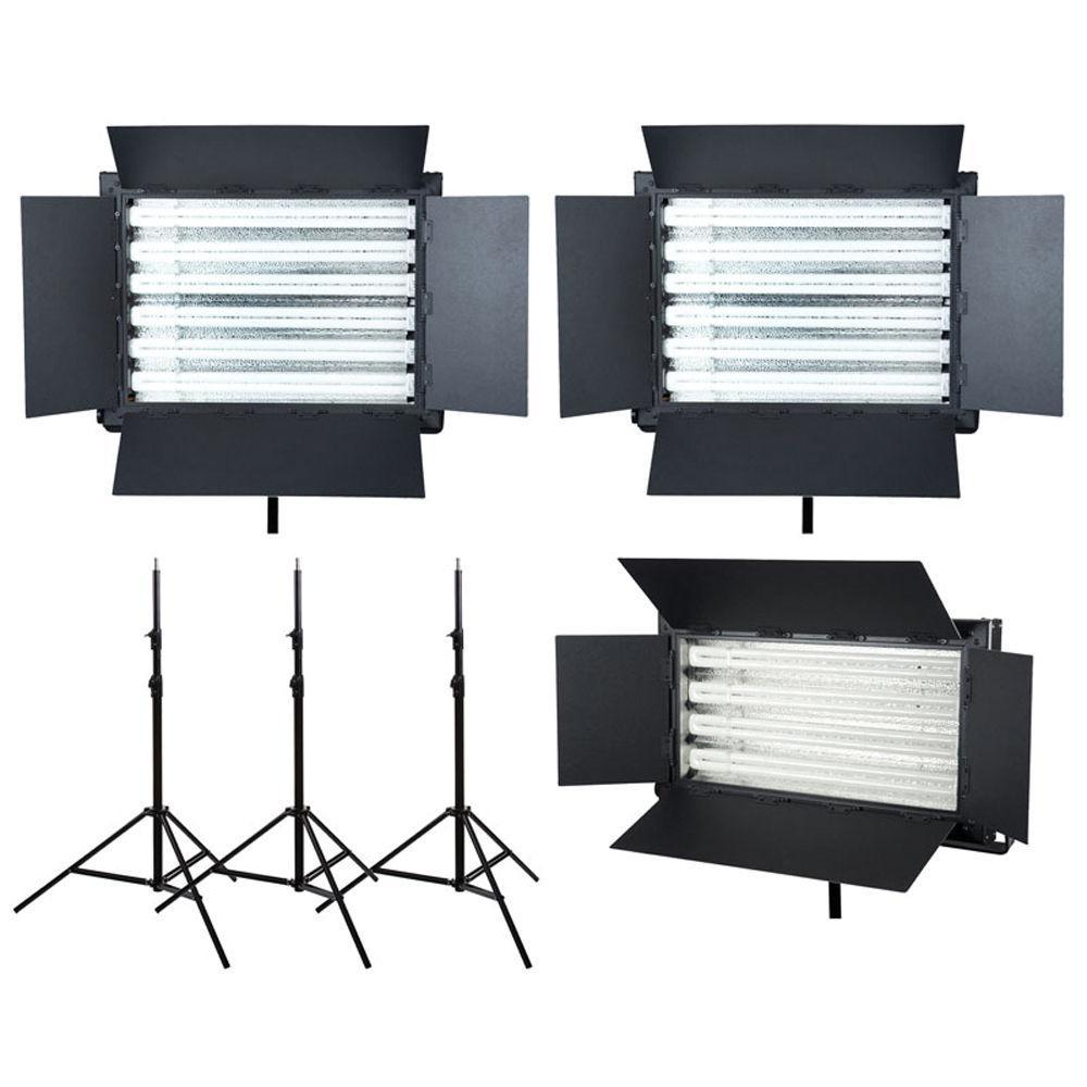 Flo light video lighting kit for rental (( fluorescent light similar to Kino flo))