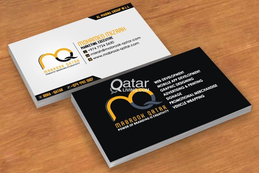 Professional & Creative Business Card Designing | Qatar Living