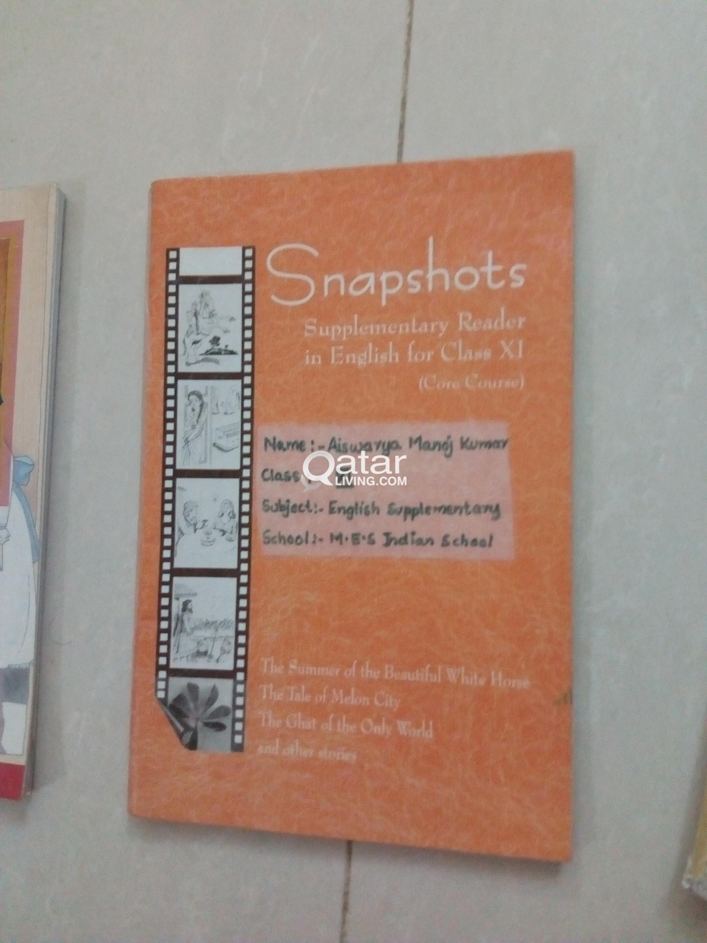 Snapshot Class 11 Book