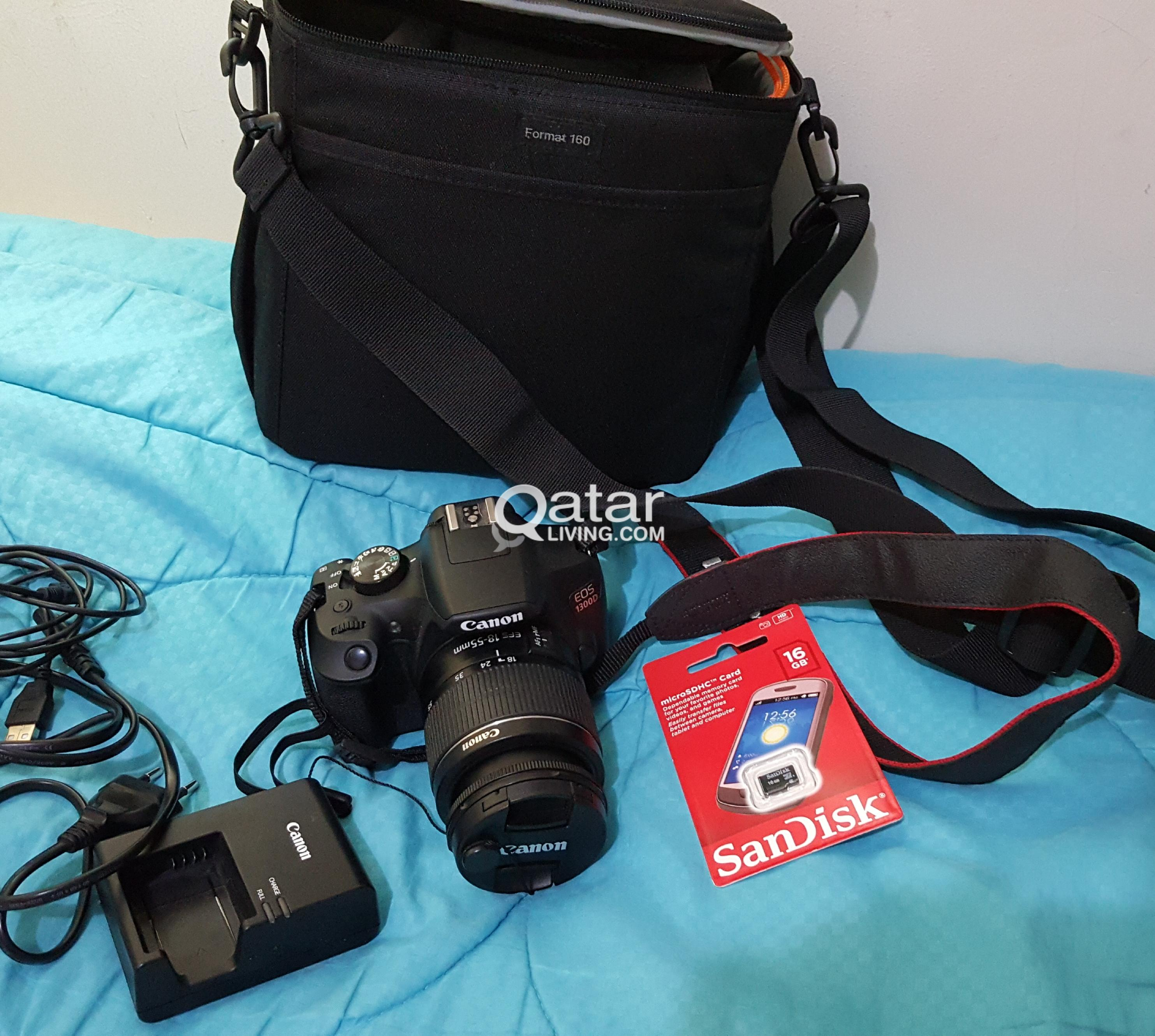 Canon Eos 1300d Dslr Camera Efs 18 55mm Dc Qatar Living Digital With Lens Is Ii Title