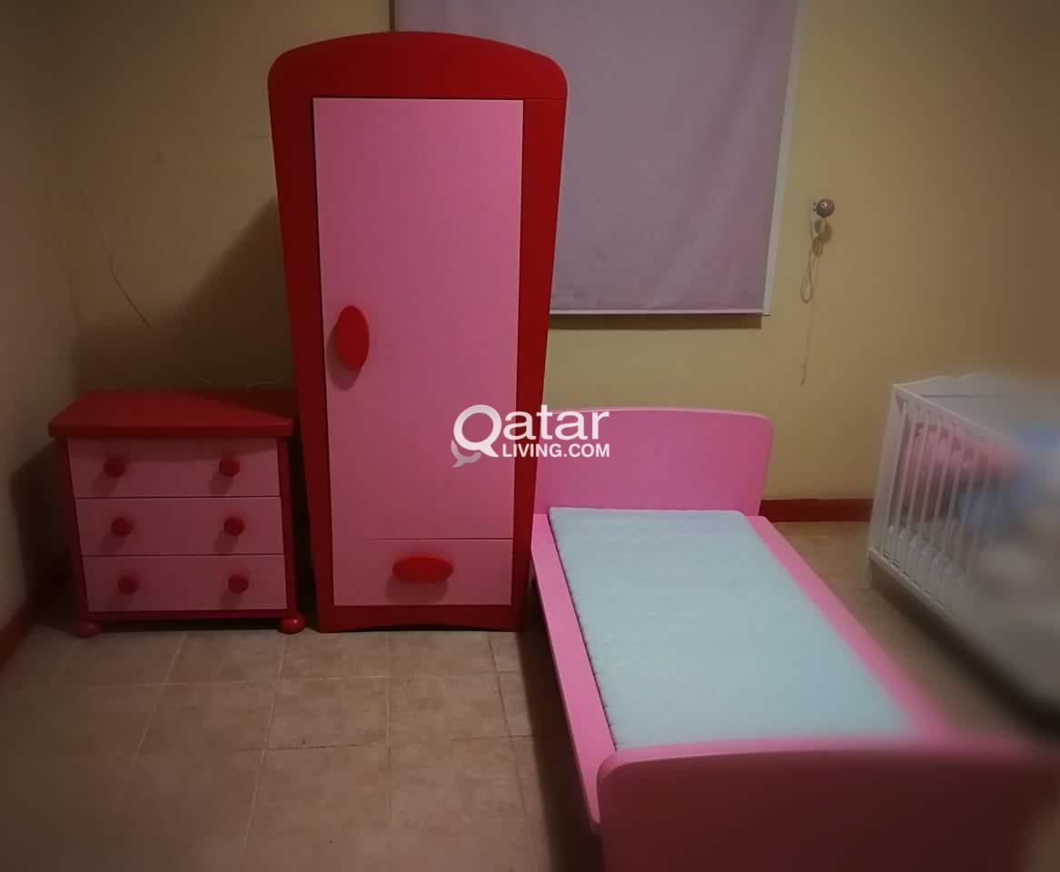Ikea Mammut Children Bedroom Furniture Pink And Red Qatar Living