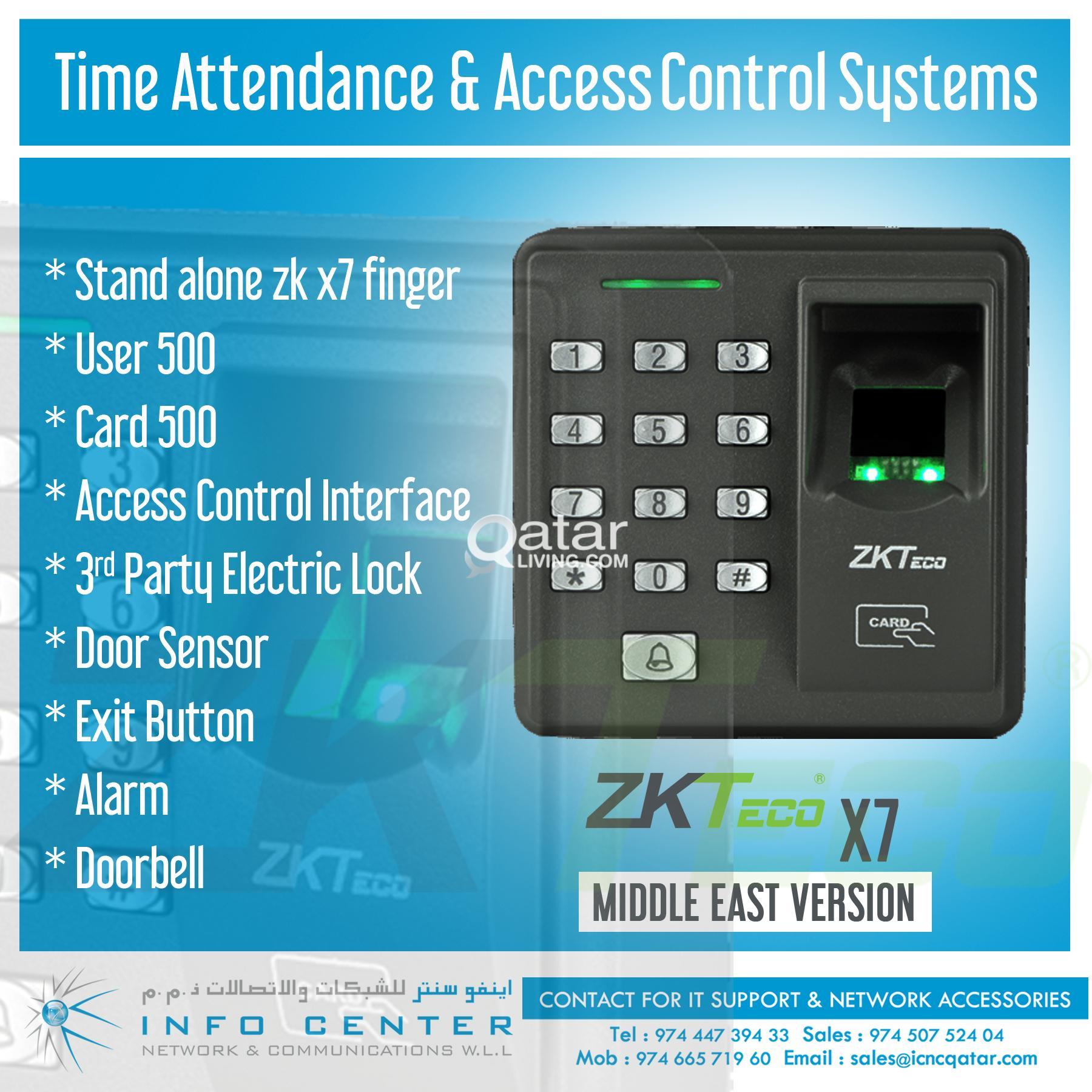 ZKtecoTime Attendance / Bio Metric Machine & Access Control