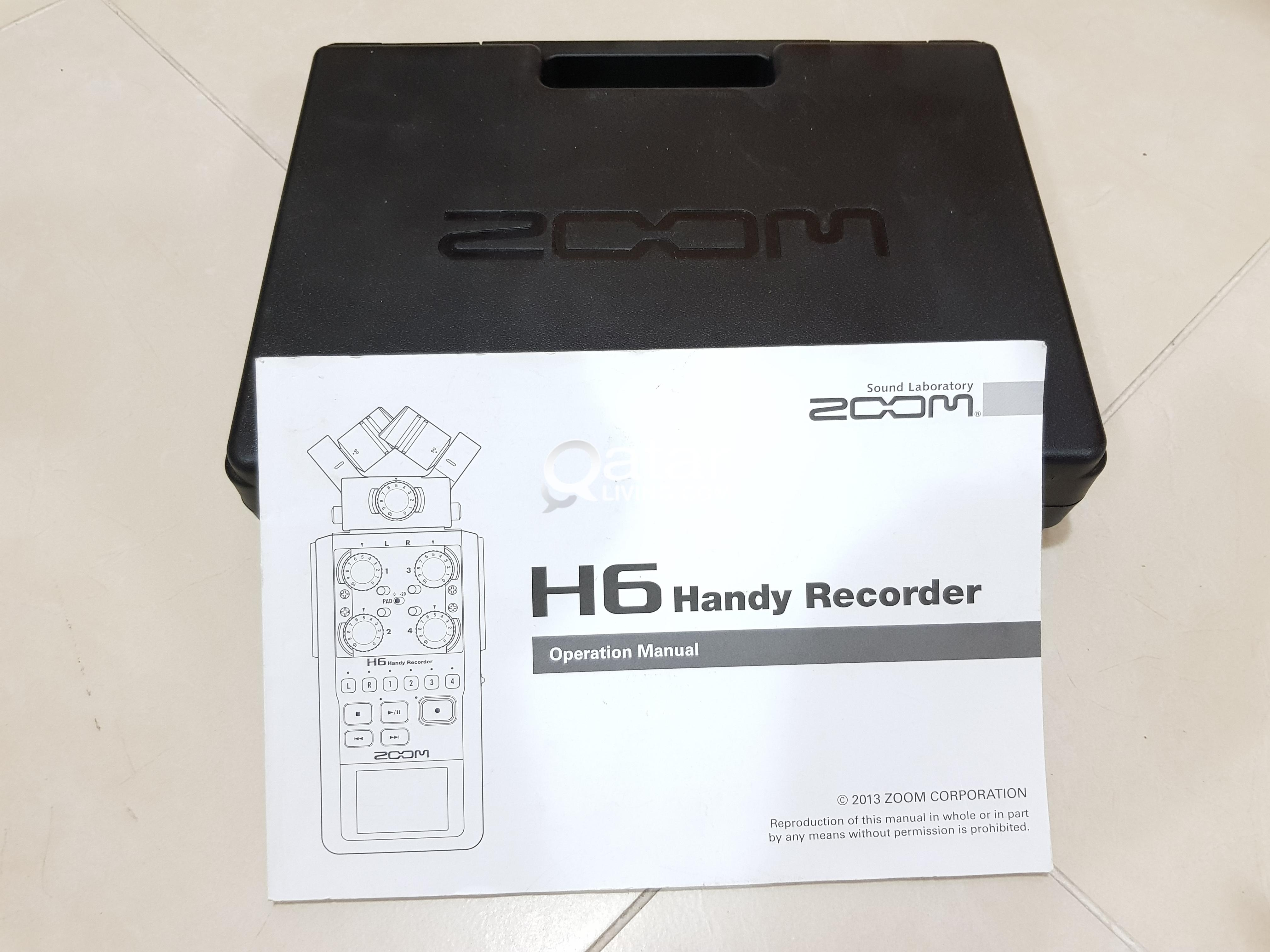 Zoom H6 recorder complete kit  perfect condition | Qatar Living