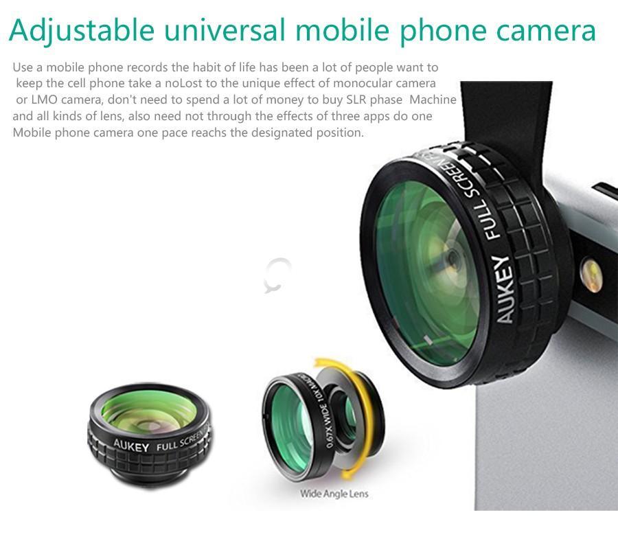AUKEY 3 in 1 high quality Mini Phone Camera Lens Kit   Qatar
