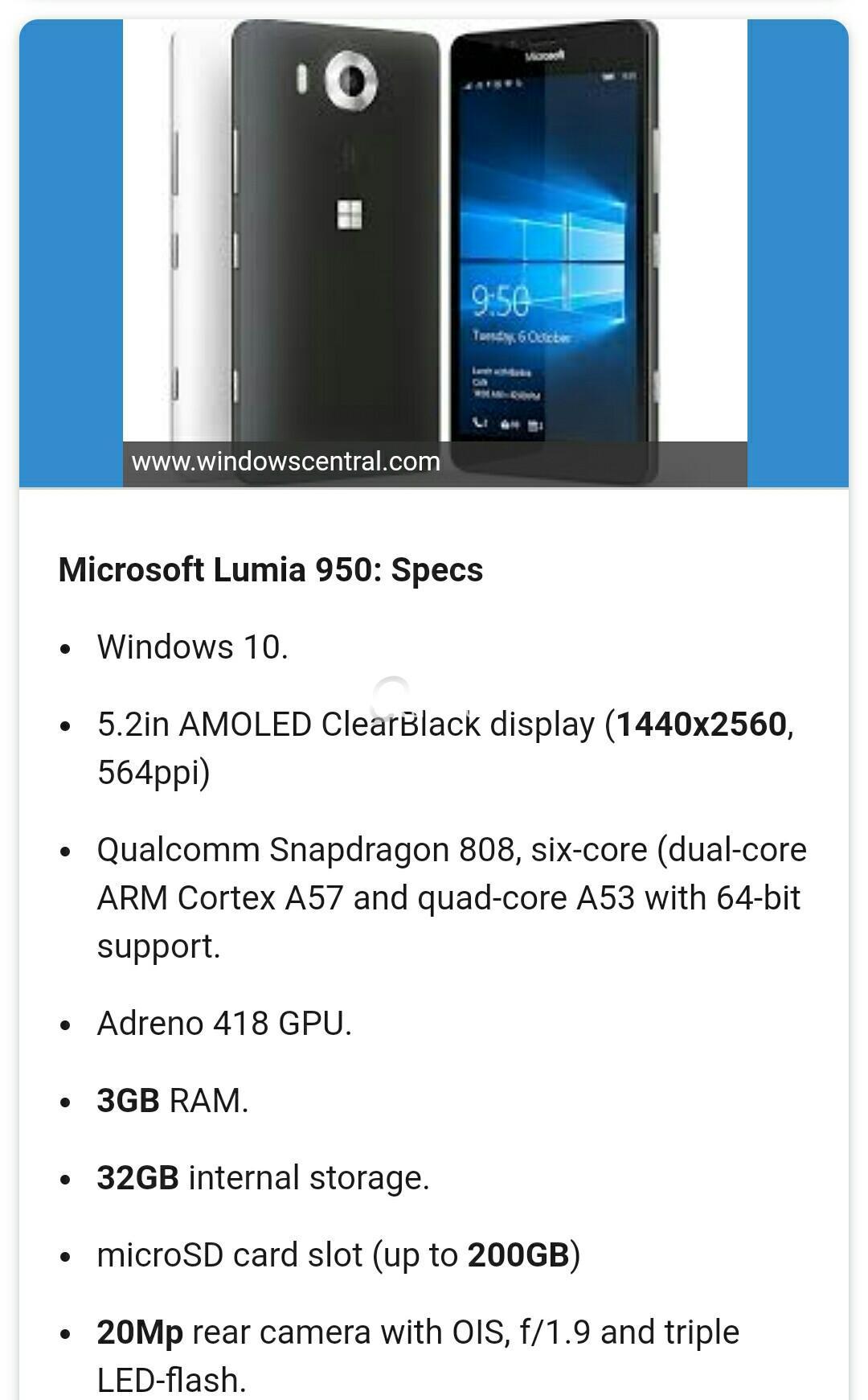 Microsoft Lumia 950 | Qatar Living