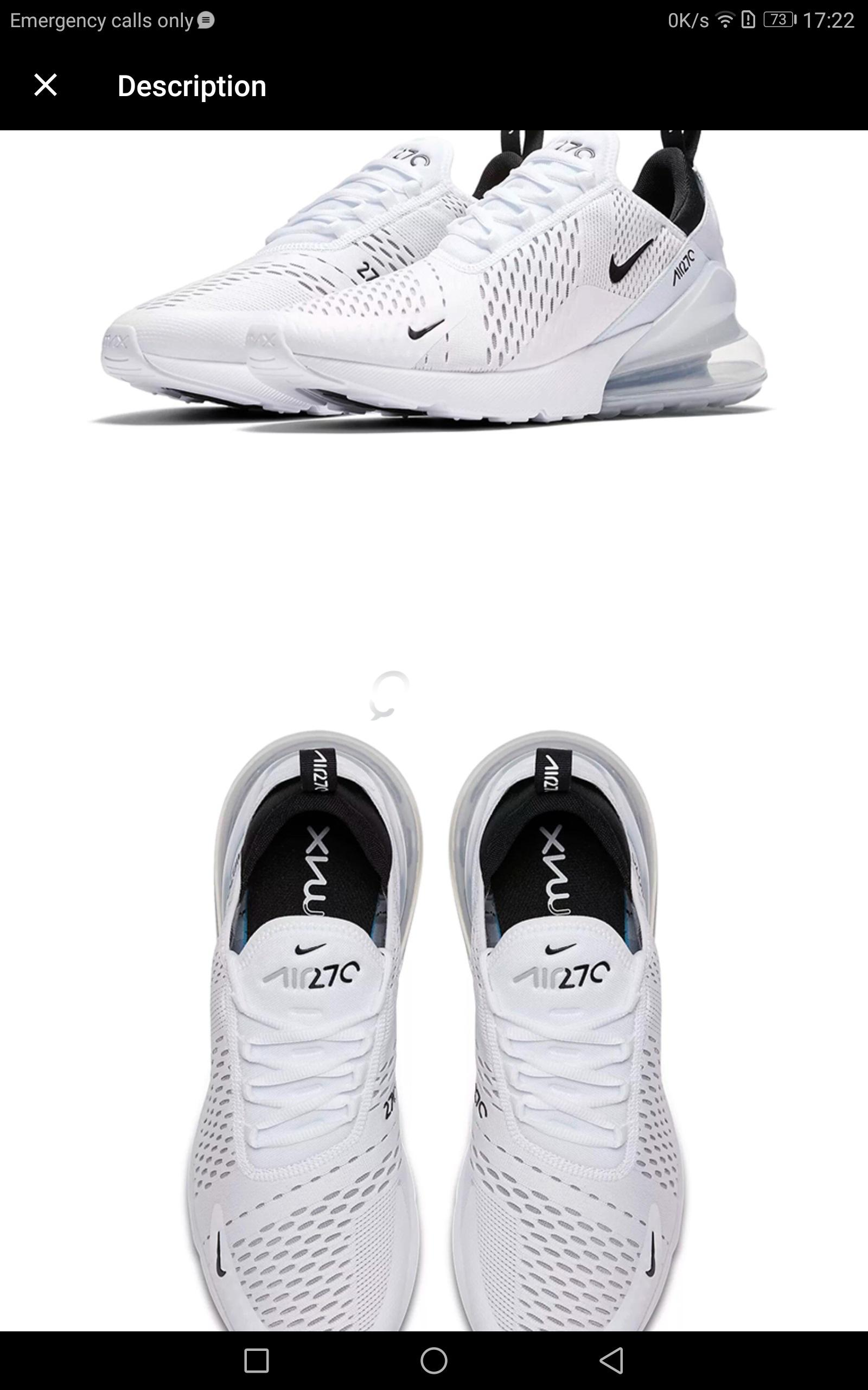 Original Nike Air Max 270 180 Running Shoes Sport Outdoor Sneakers White  Comfortable Breathable Cushioning fo  09e776f77