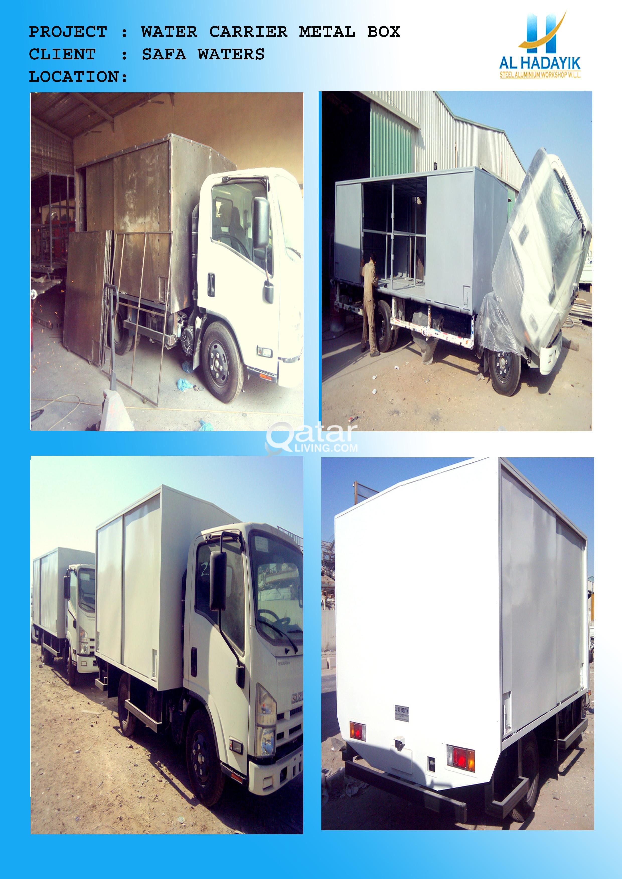 building ware houses, pick up vehicle body,and pot