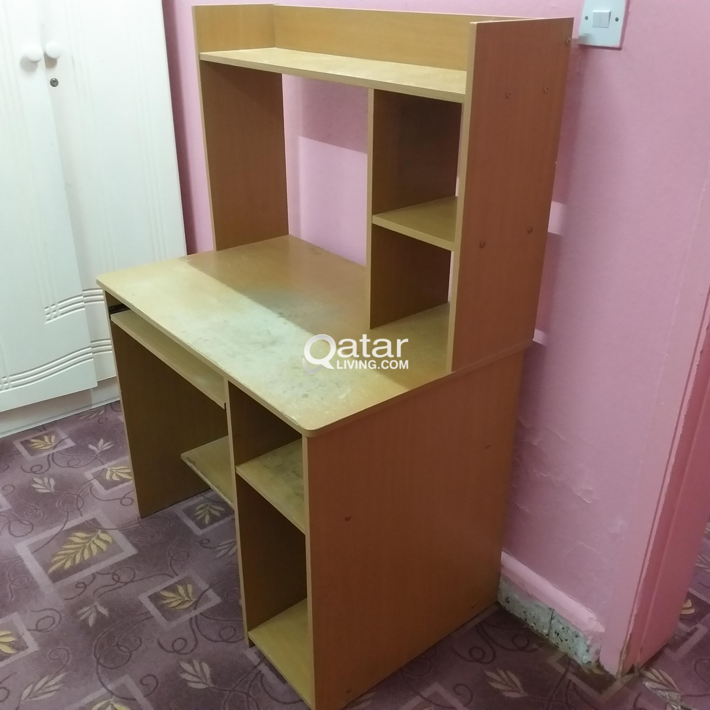 Magnificent Computer Table Big Size Lot Of Storage Space Qatar Living Download Free Architecture Designs Rallybritishbridgeorg