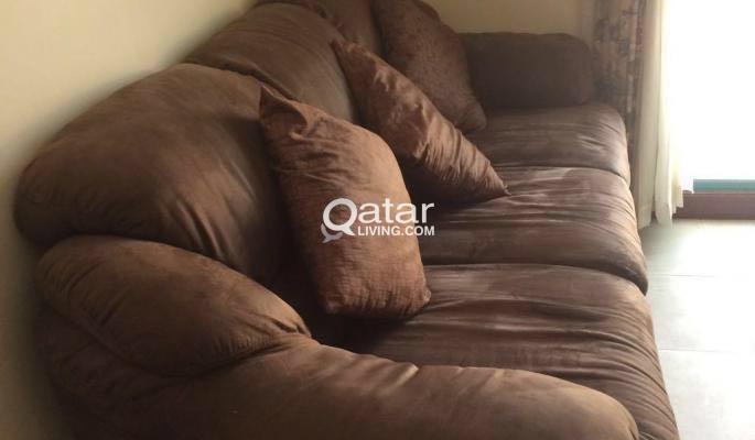 Terrific Fabric 3 Seater Sofa Homes R Us Brand Good Conditi Qatar Download Free Architecture Designs Intelgarnamadebymaigaardcom