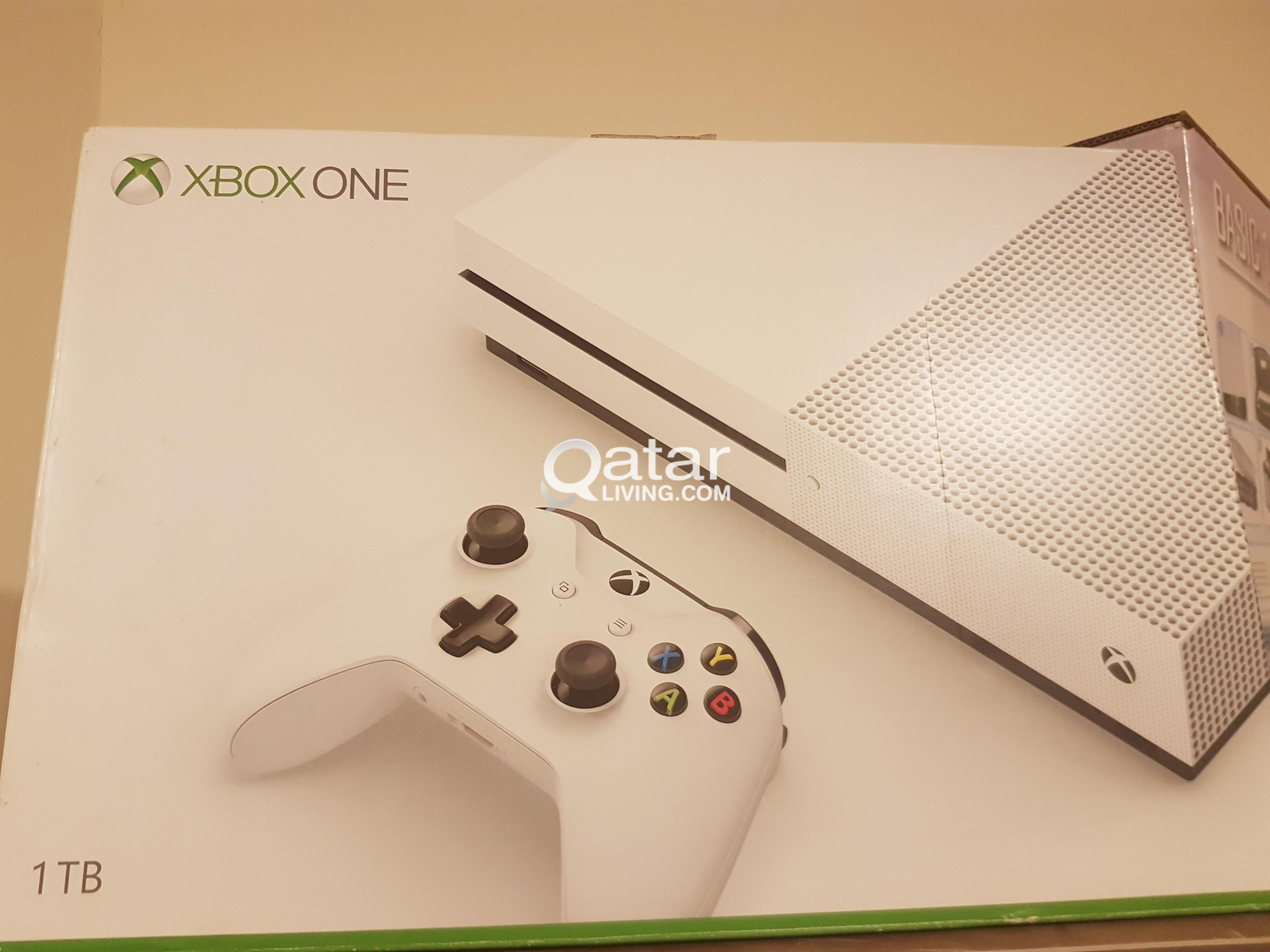 Xbox one S with 2 games cover  Rarely used | Qatar Living