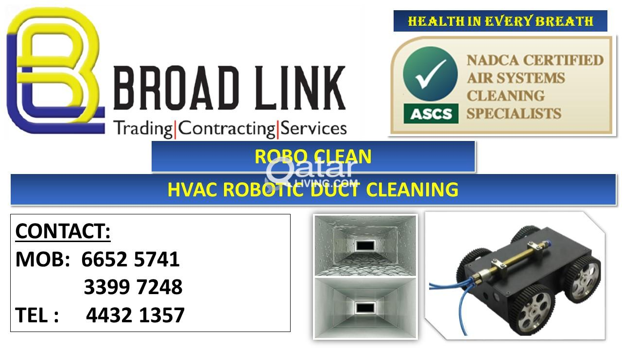 HVAC ROBOTIC DUCT CLEANING-BROAD LINK TRADING CONTRACTING