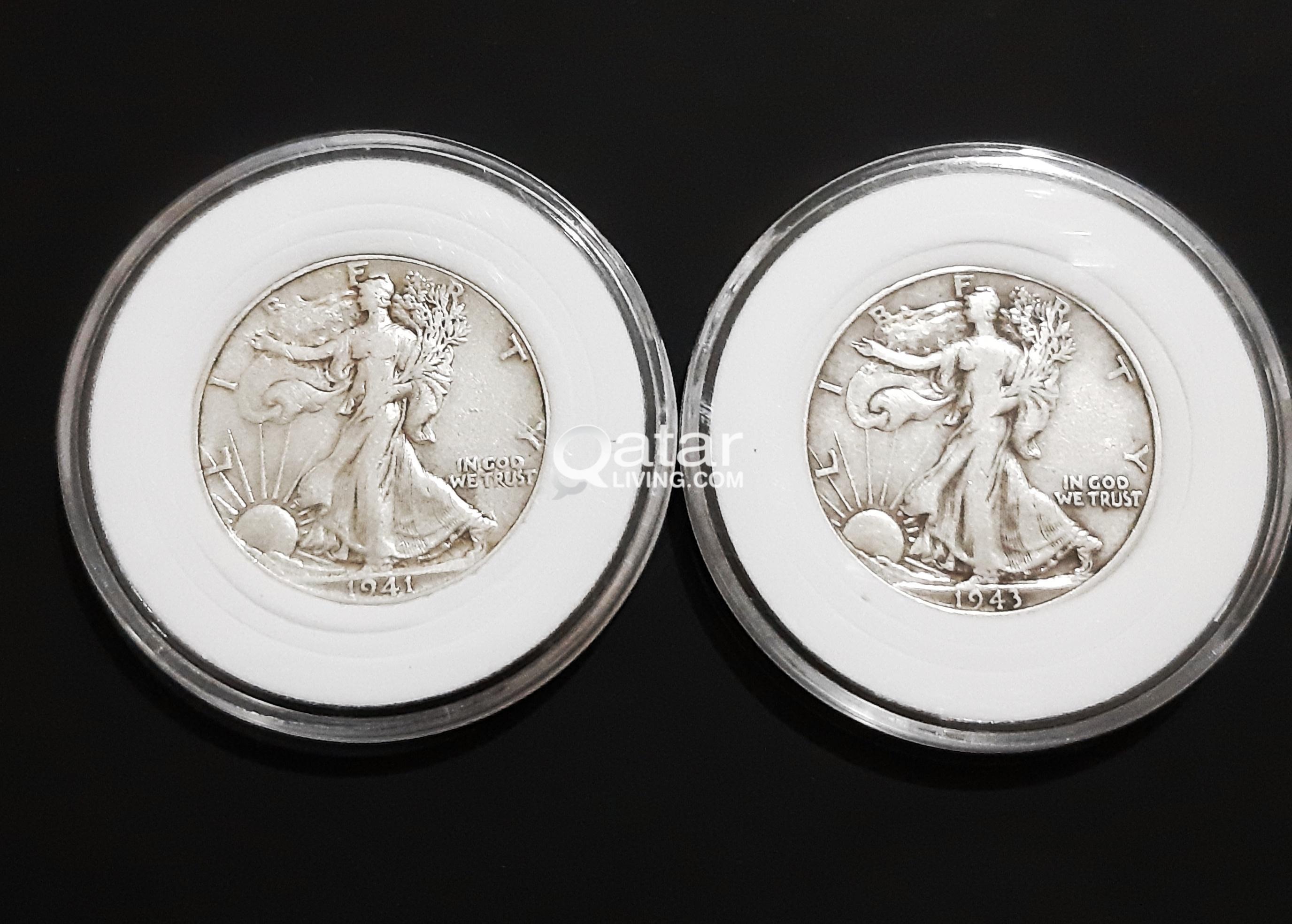 Silver Coins 1941 1943 Half Dollar