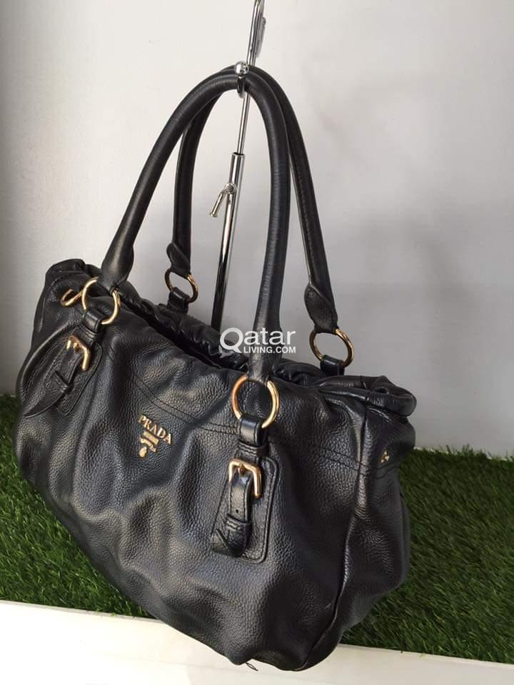 title  title  title  title  title  title  title. Information. Pre-loved authentic  Prada Black Handbag