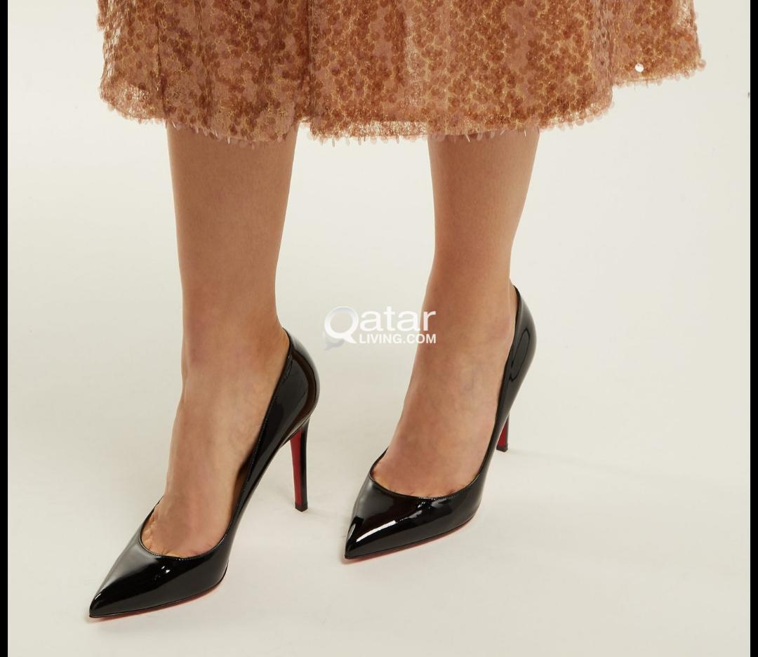new concept 5ac07 7fd3a Christian Louboutin Pigalle 100mm Patent Leather Black Pumps ...