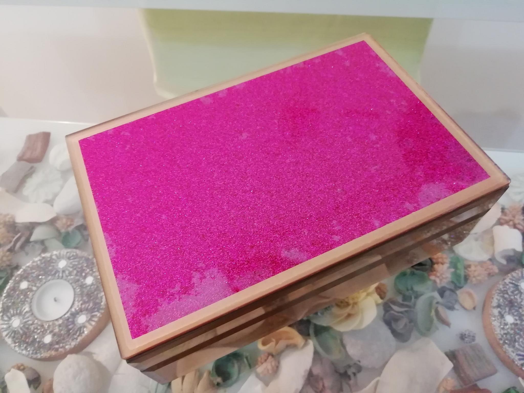 LIFE STYLE LUXURY-JEWELRY BOX- PURPLE COLOR