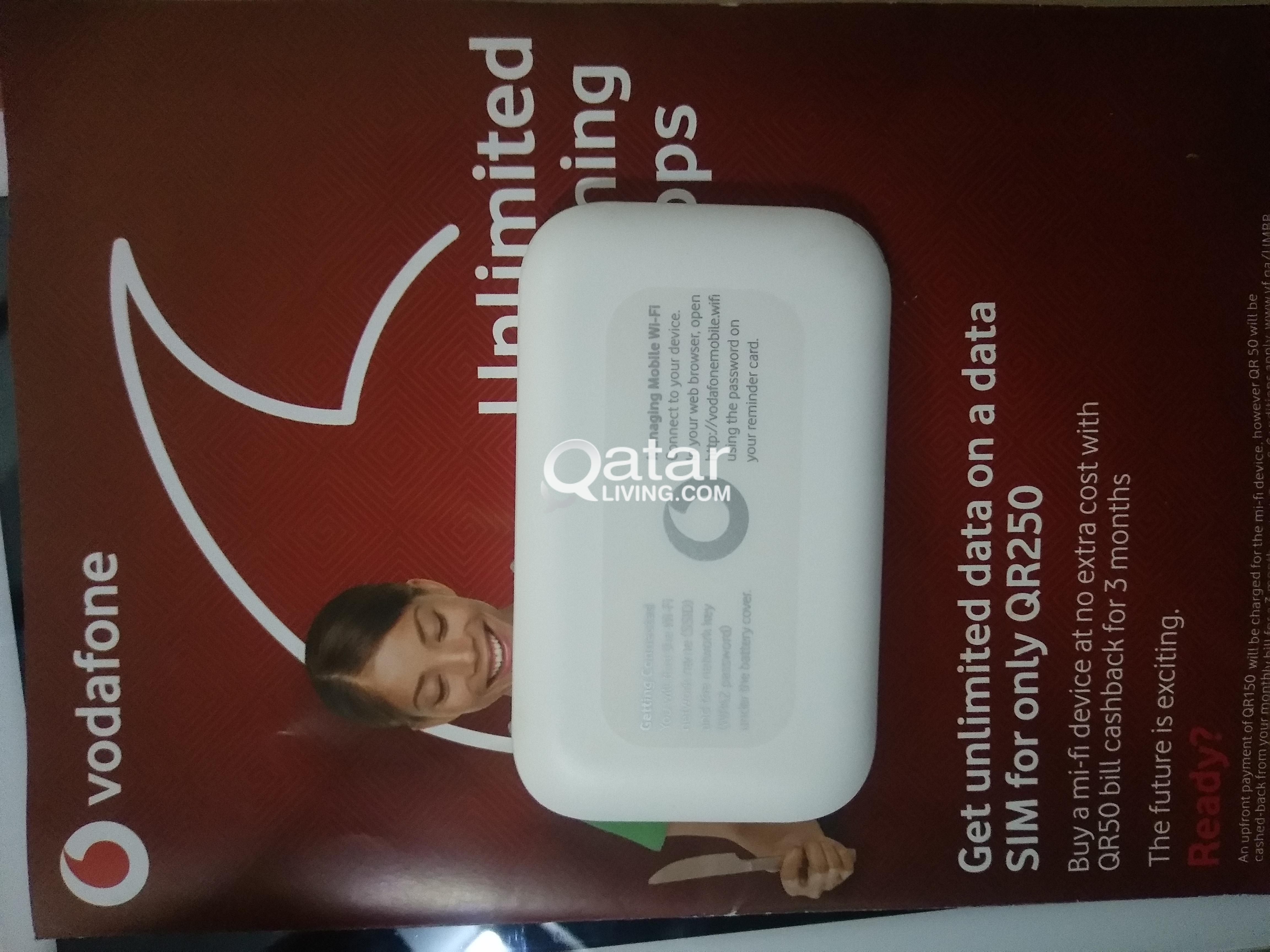 Vodafone unlimited internet plan ( Free Mi-Fi ) | Qatar Living