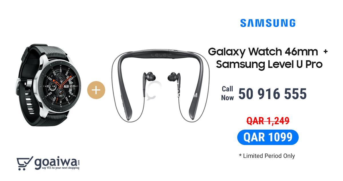 Samsung Galaxy Watch + Level U Pro   Qatar Living