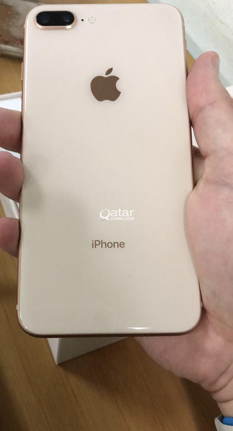 iPhone 8plus 256gb (Gold) Same as new with box,Charger and Covers