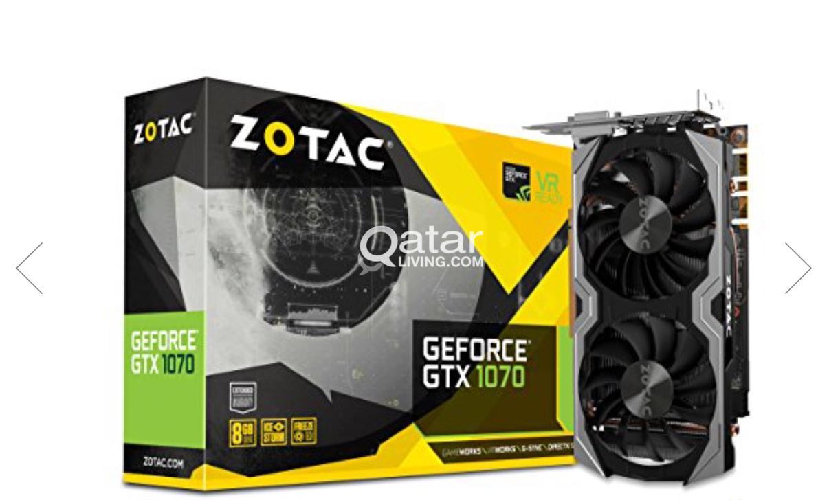 GPU ZOTAC GeForce GTX 1070 Mini 8GB (Rarely used) | Qatar Living