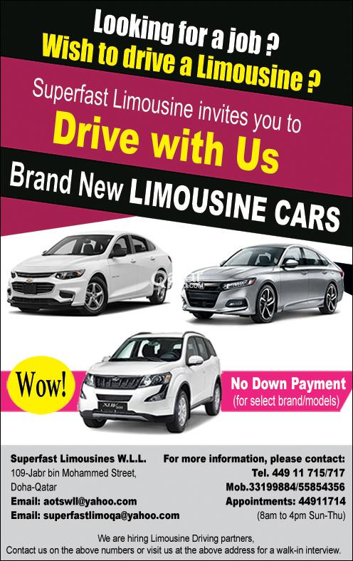 Limousine Cars available