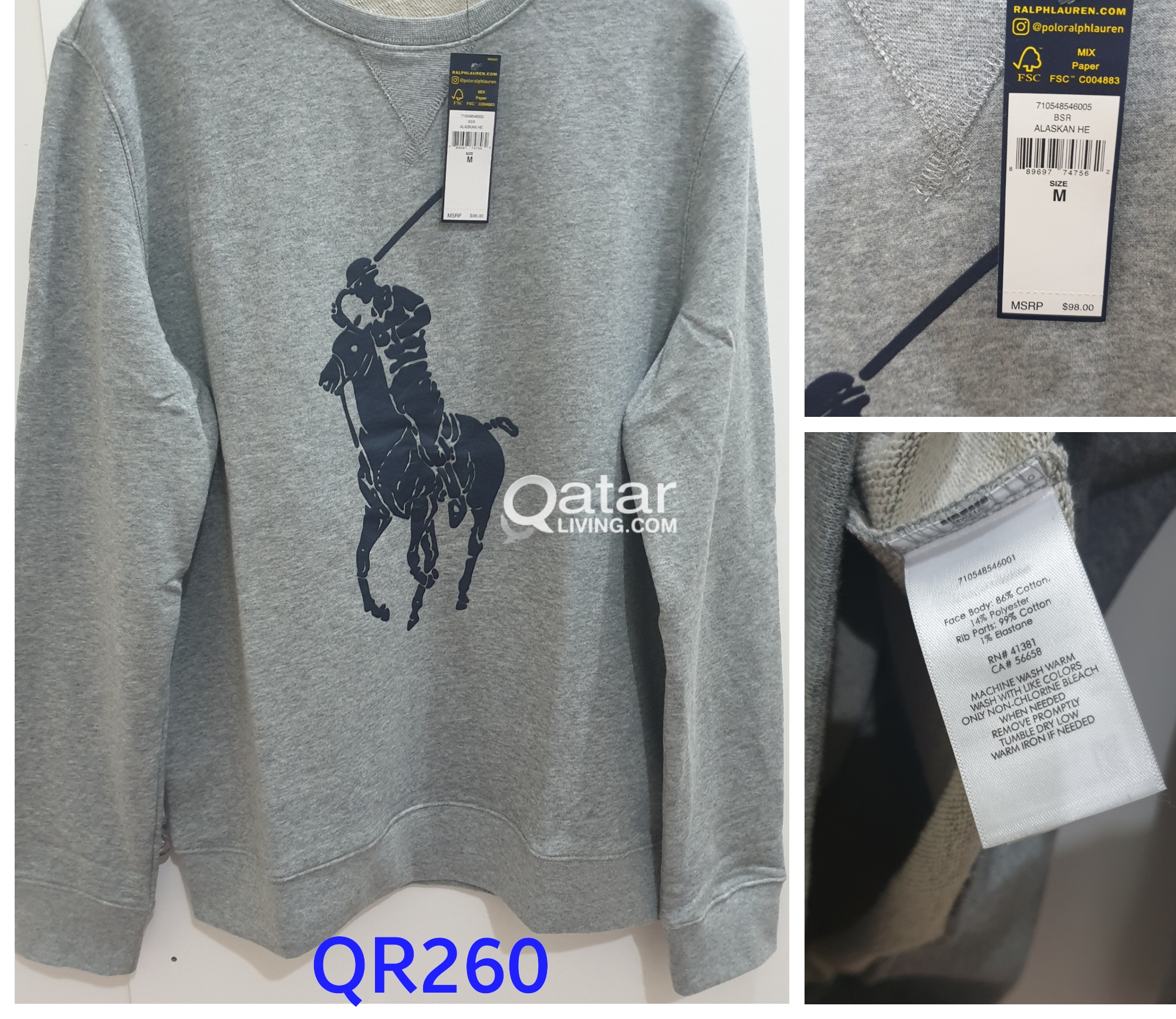 8d5071c7 Original Ralph Lauren POLO Armani Sweaters/jacket | Qatar Living