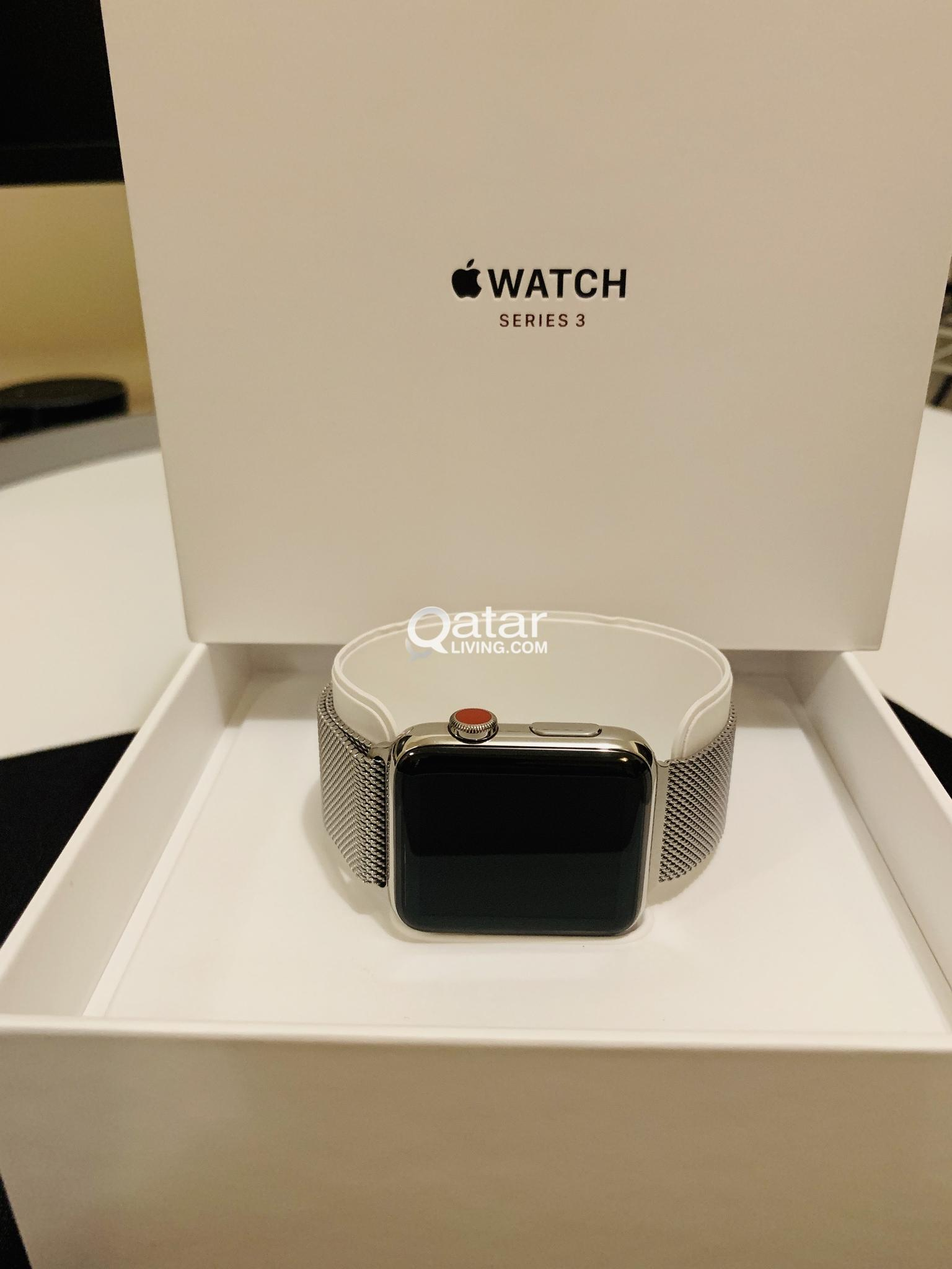 huge discount 05f17 2683b Apple Watch Series 3 42mm Stainless Steel Case with Milanese Loop ...