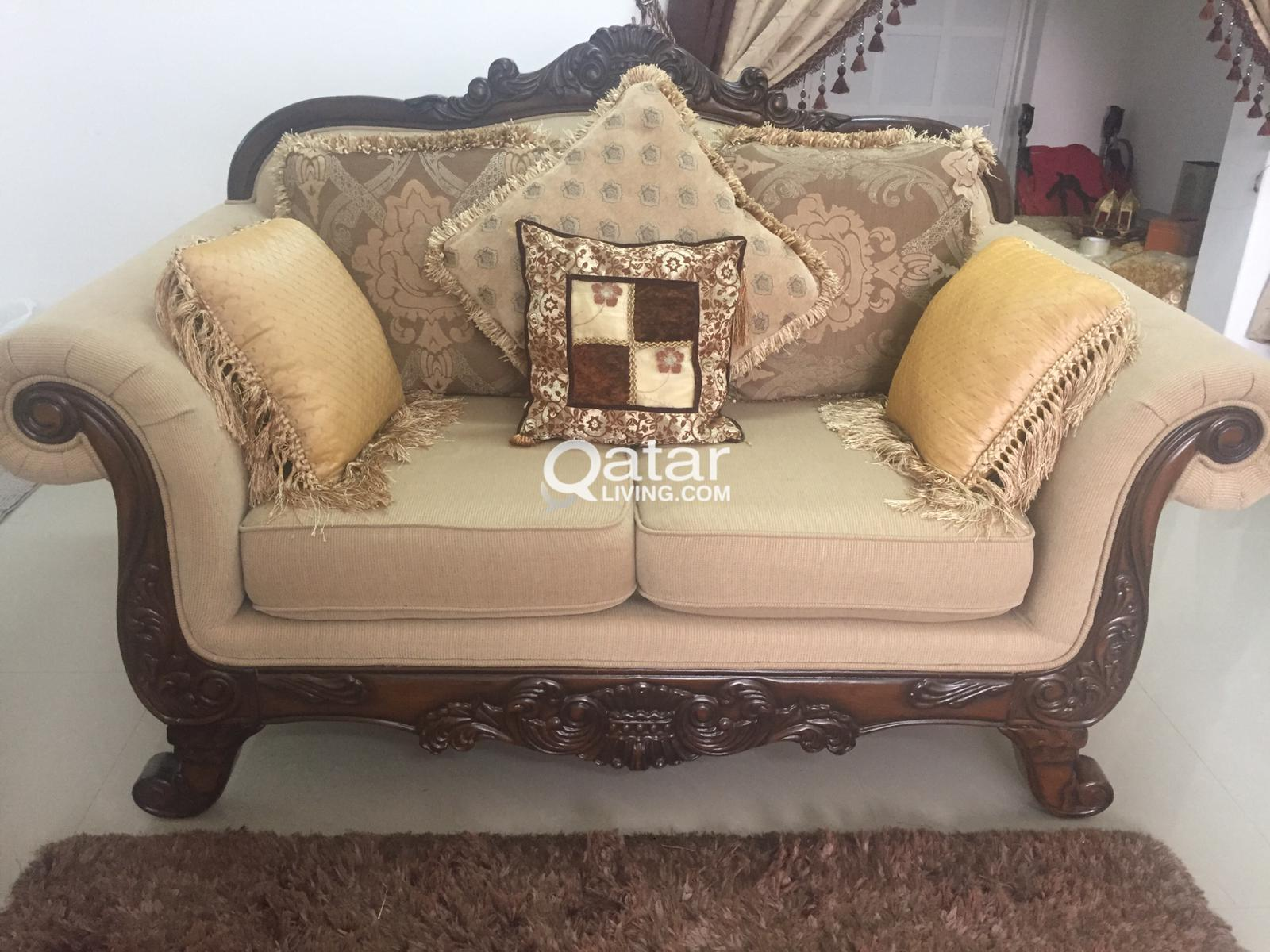 Exquisite & Royal Sofa Set with Center Table/Rug - Home ...