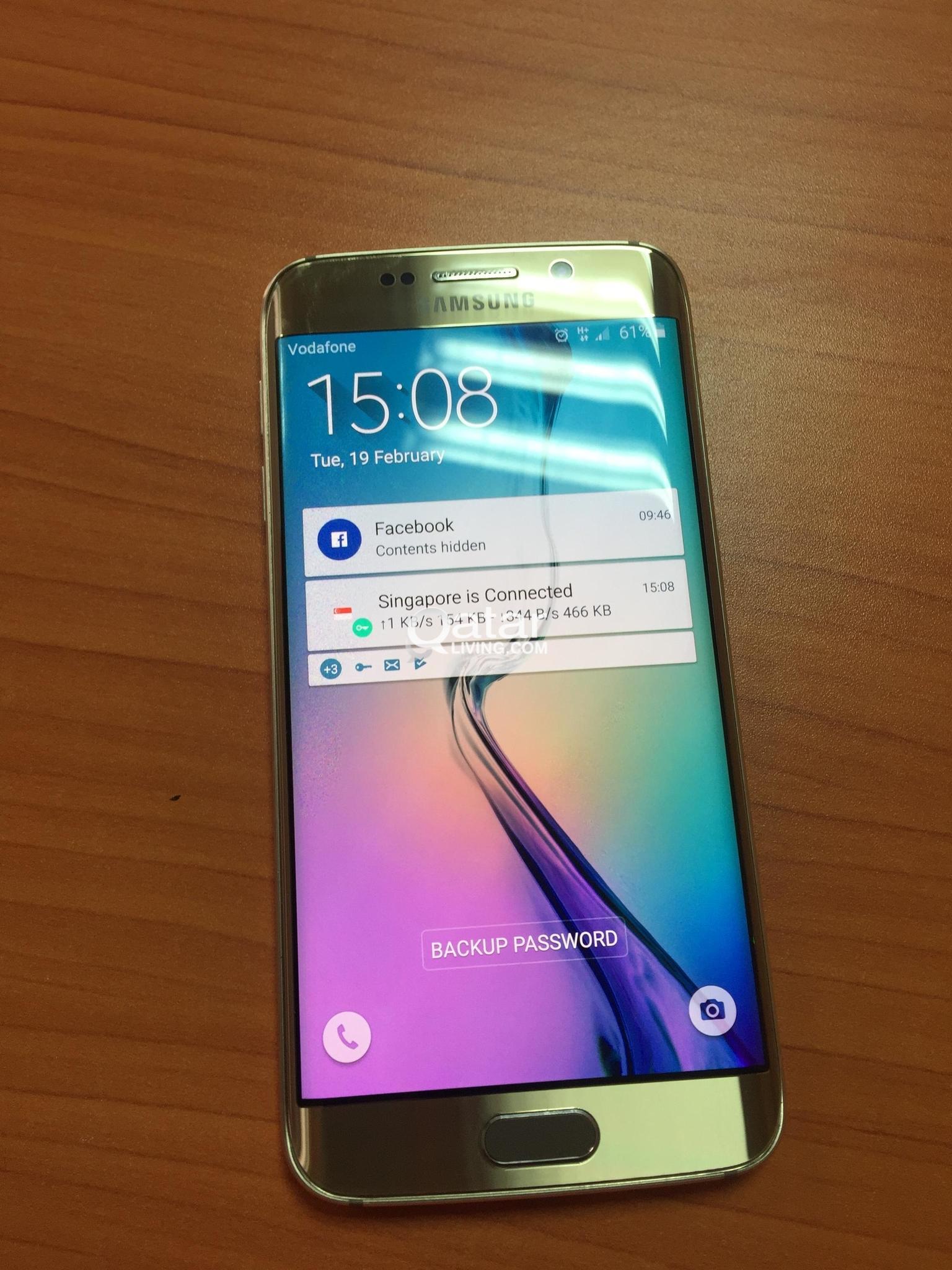 Samsung Galaxy S6 Edge, 64GB Storage, 3GB RAM, QAR 699
