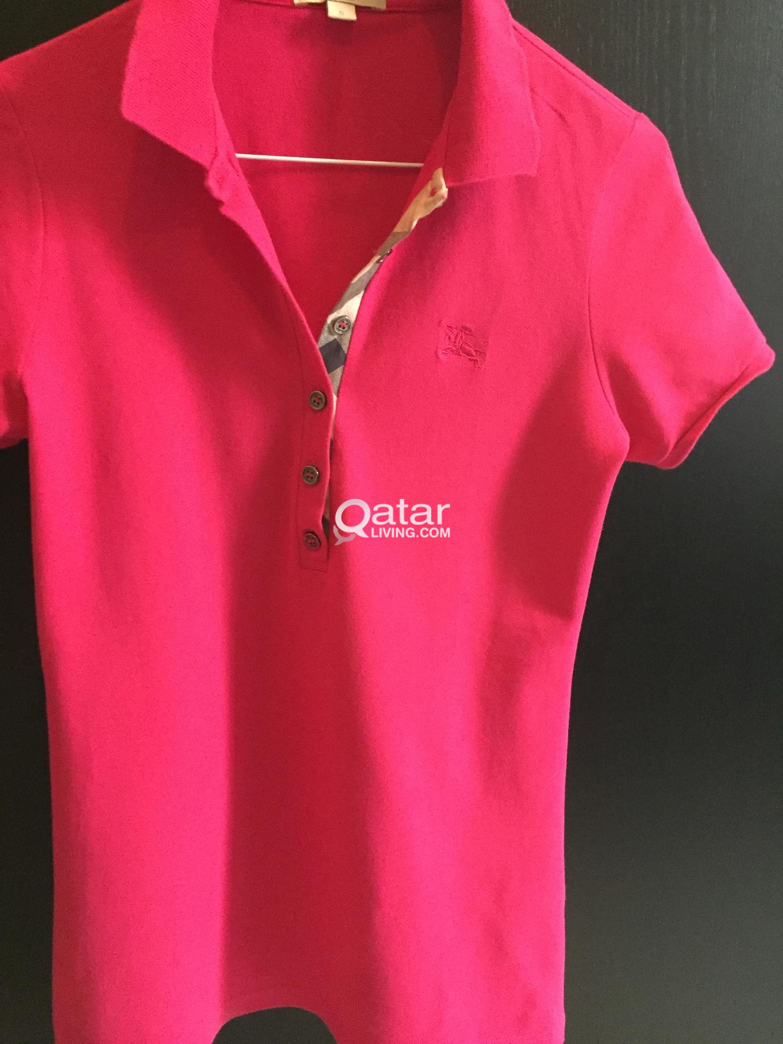 7d0cc3362 Authentic Burberry polo shirt size small | Qatar Living