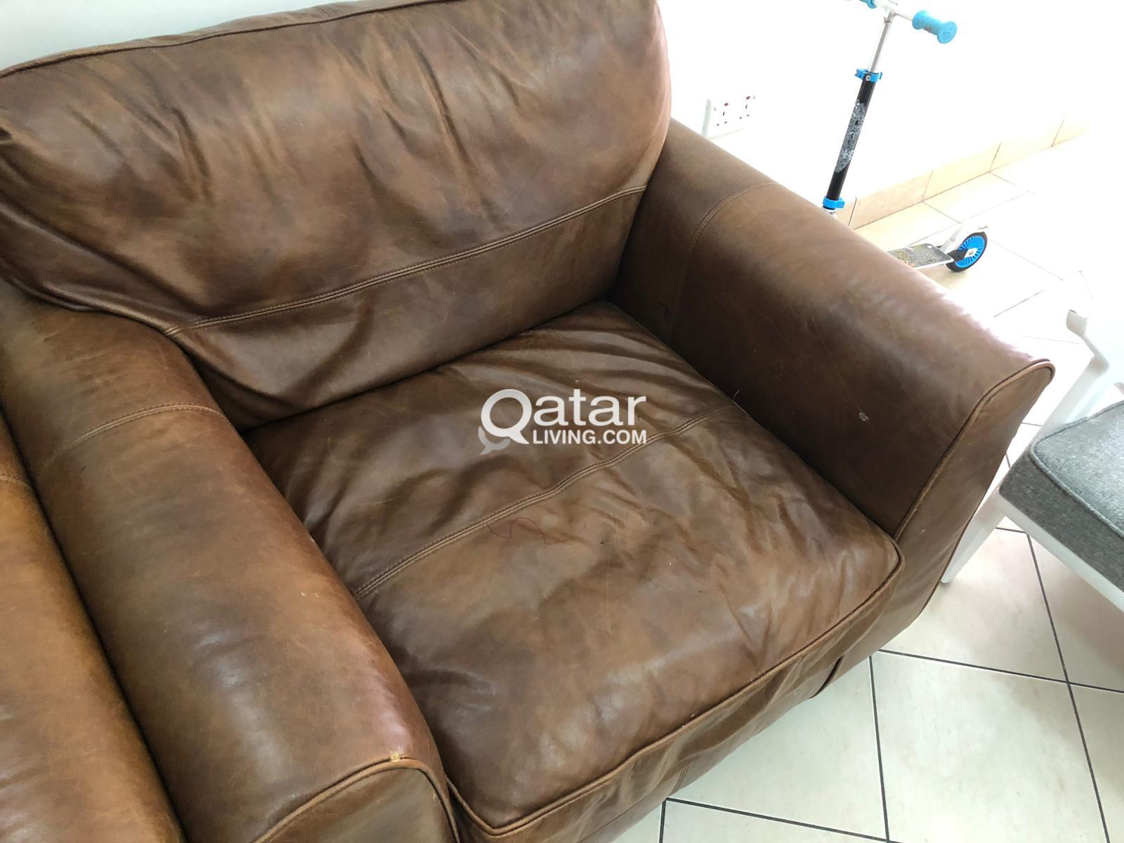 Leather single Sofa high quality