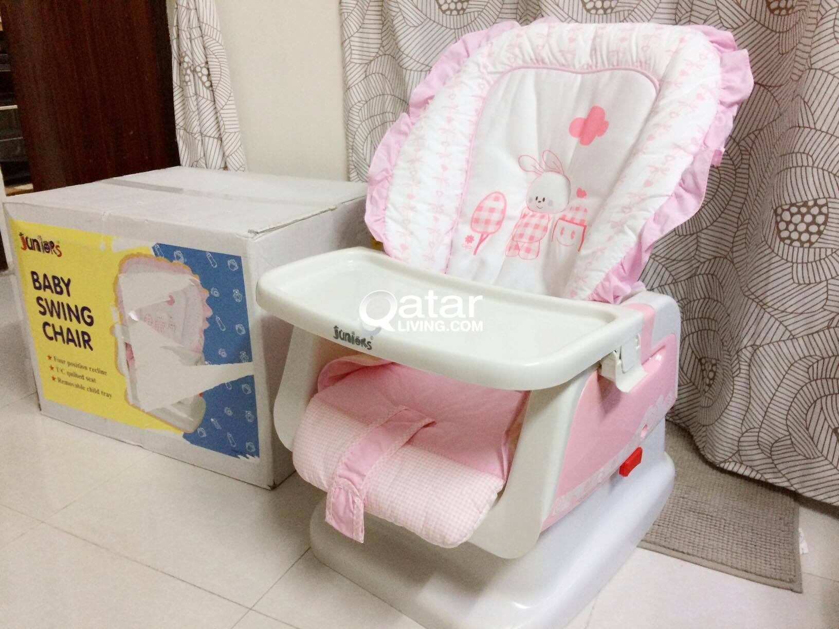 JUNIORS Apricot Baby Swing Bed (Brand new with box