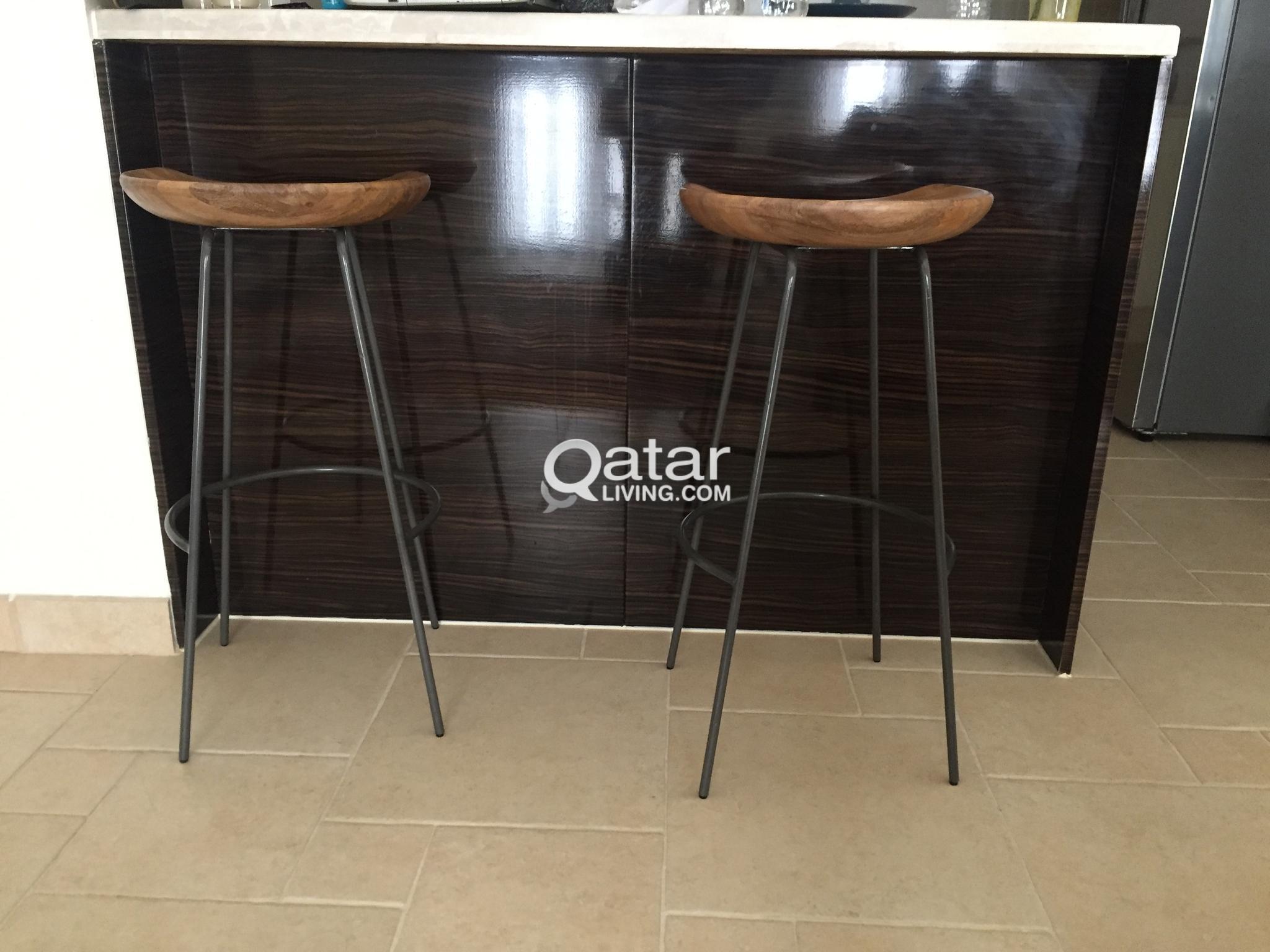 Stupendous West Elm Alden Bar Stools Pair 900 Qr Qatar Living Alphanode Cool Chair Designs And Ideas Alphanodeonline