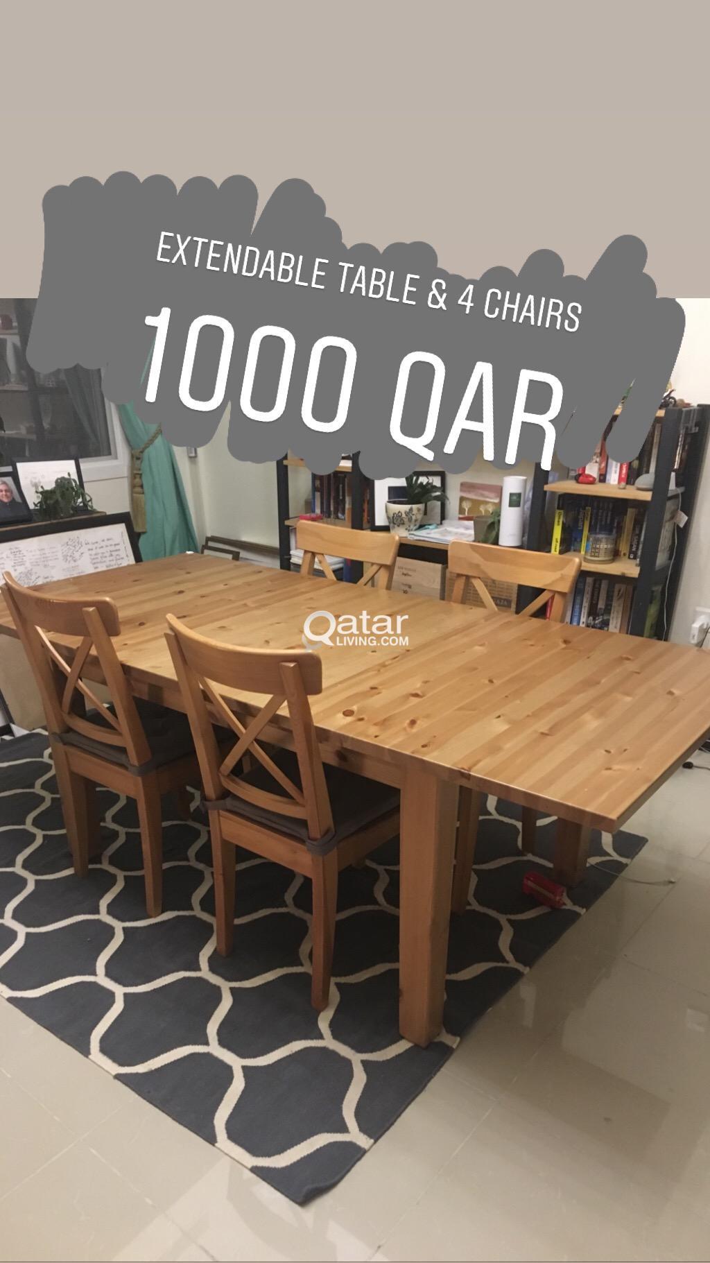 Ikea Stornas Table 4 Chairs Qatar Living