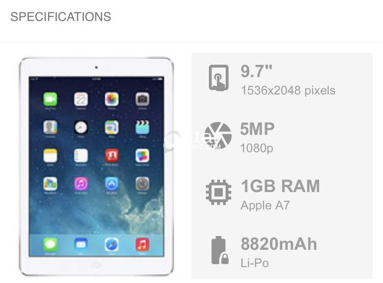 Appe iPad air 128 Wifi