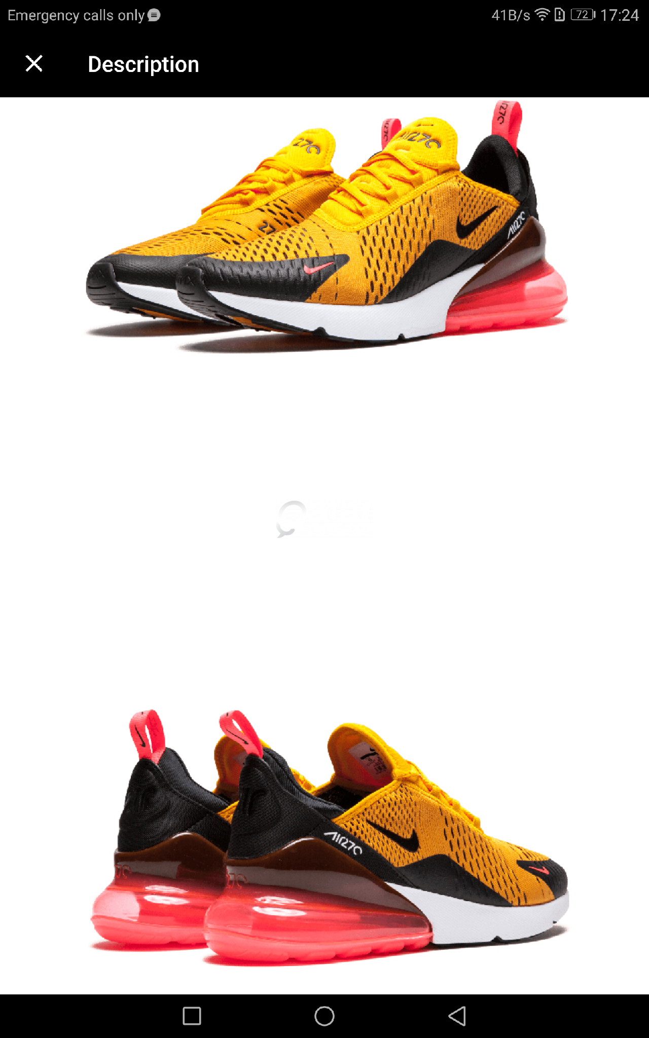 best loved 3f3e9 fff1f Official Authentic Nike Air Max 270 Mens Running Shoes ...