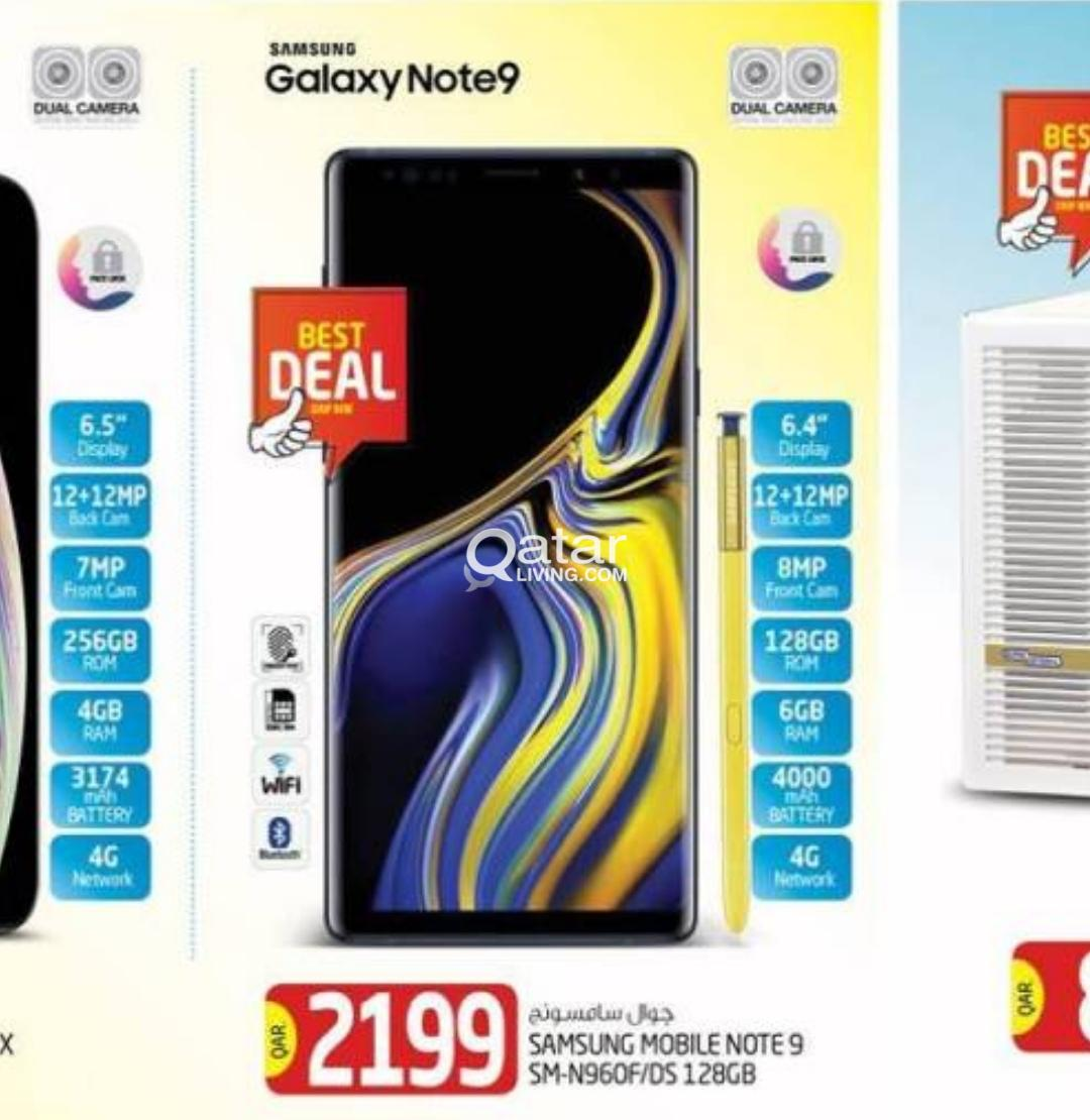 New Samsung Galaxy Note 9 for 2199 only