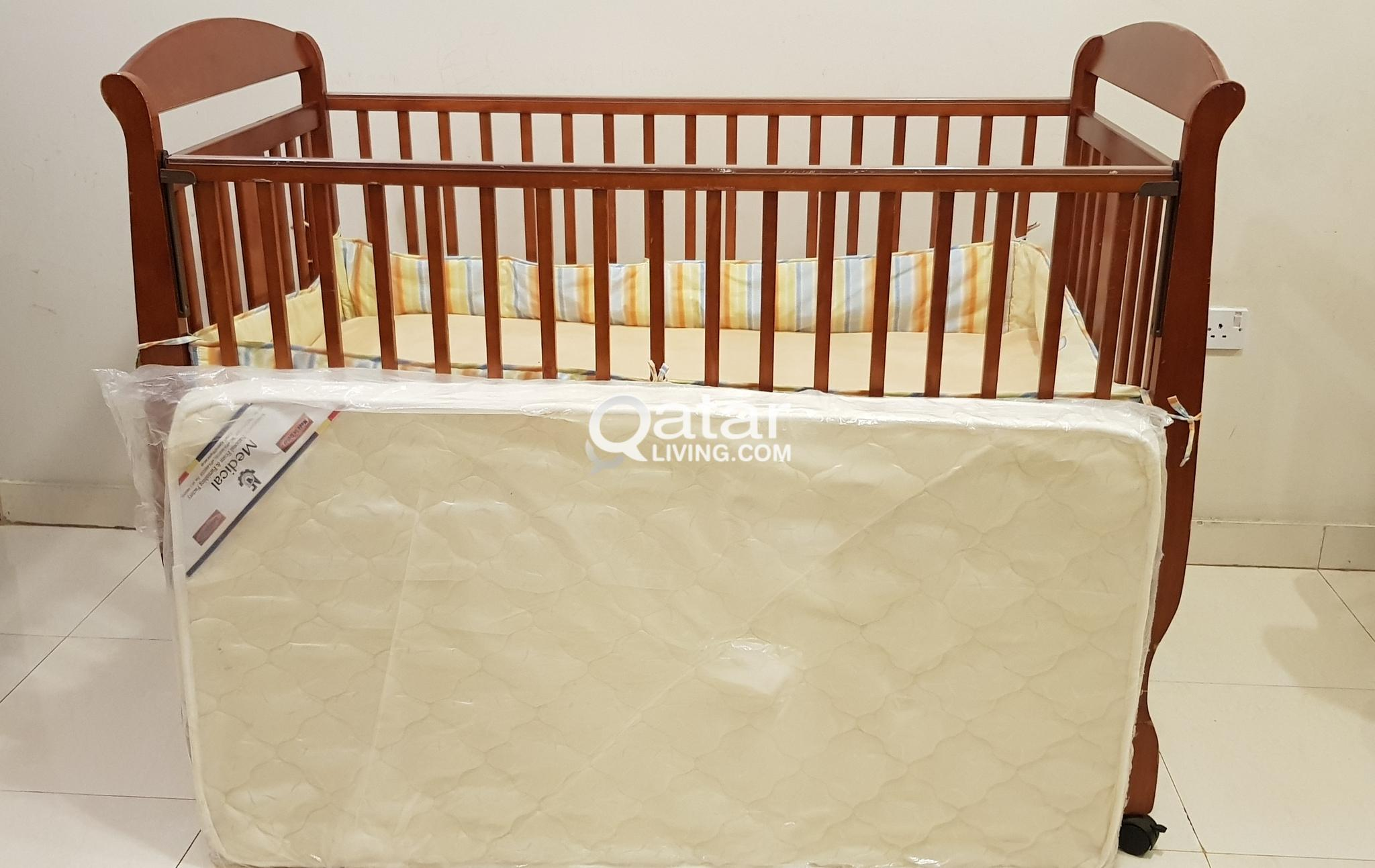 Juniors Baby Cot with New Medicated Mattress